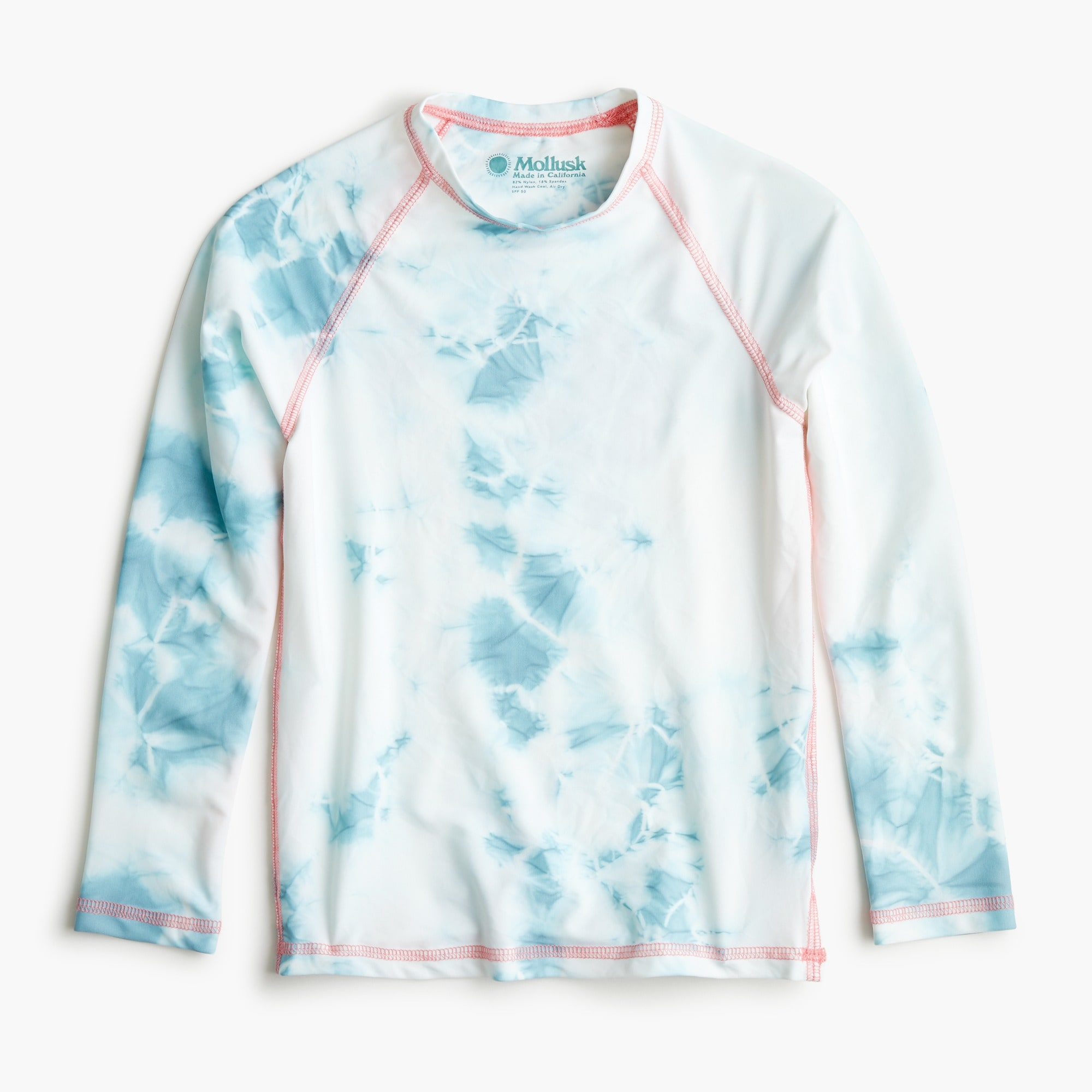 girls Girls' Mollusk tie-dye rash guard