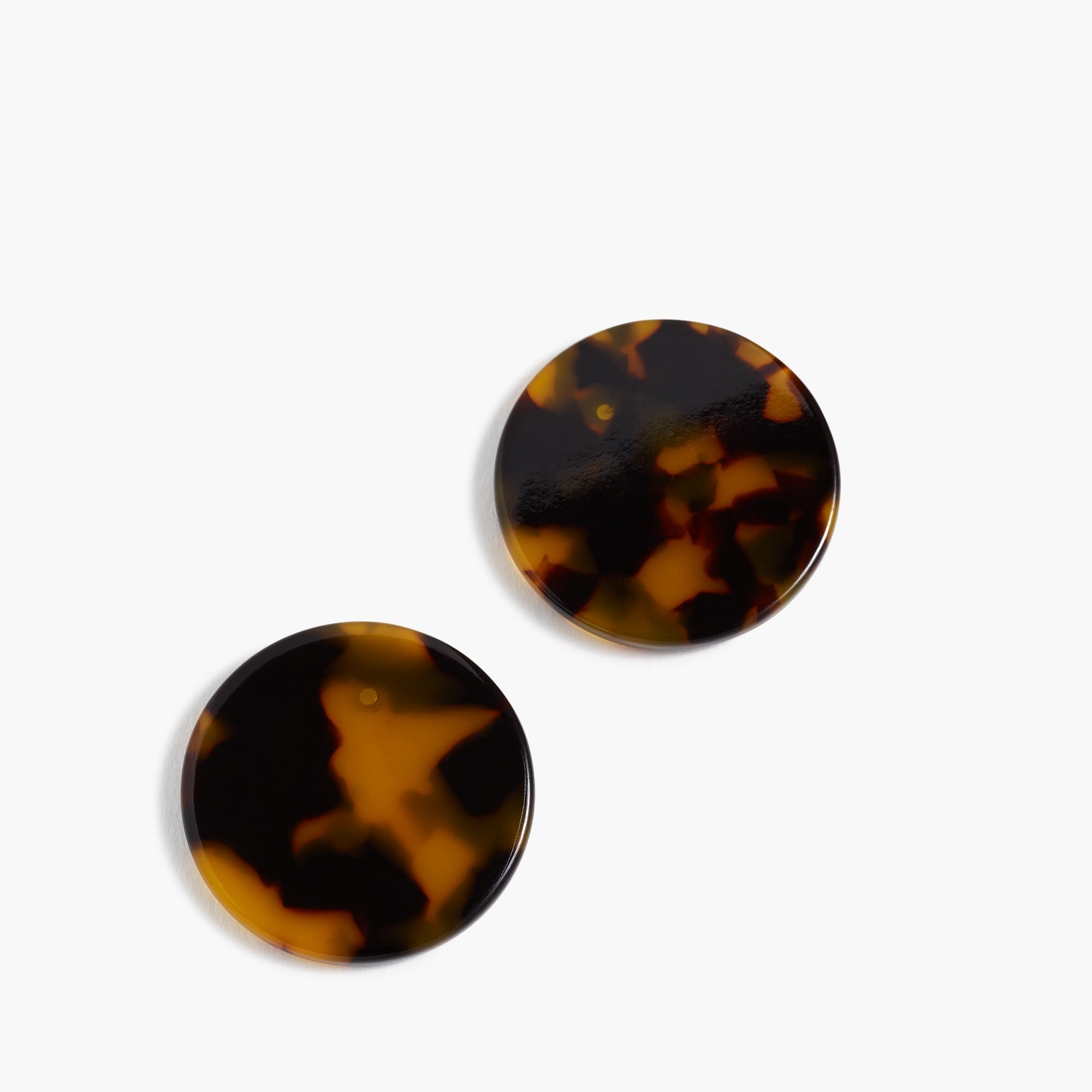 Tortoise disc earrings