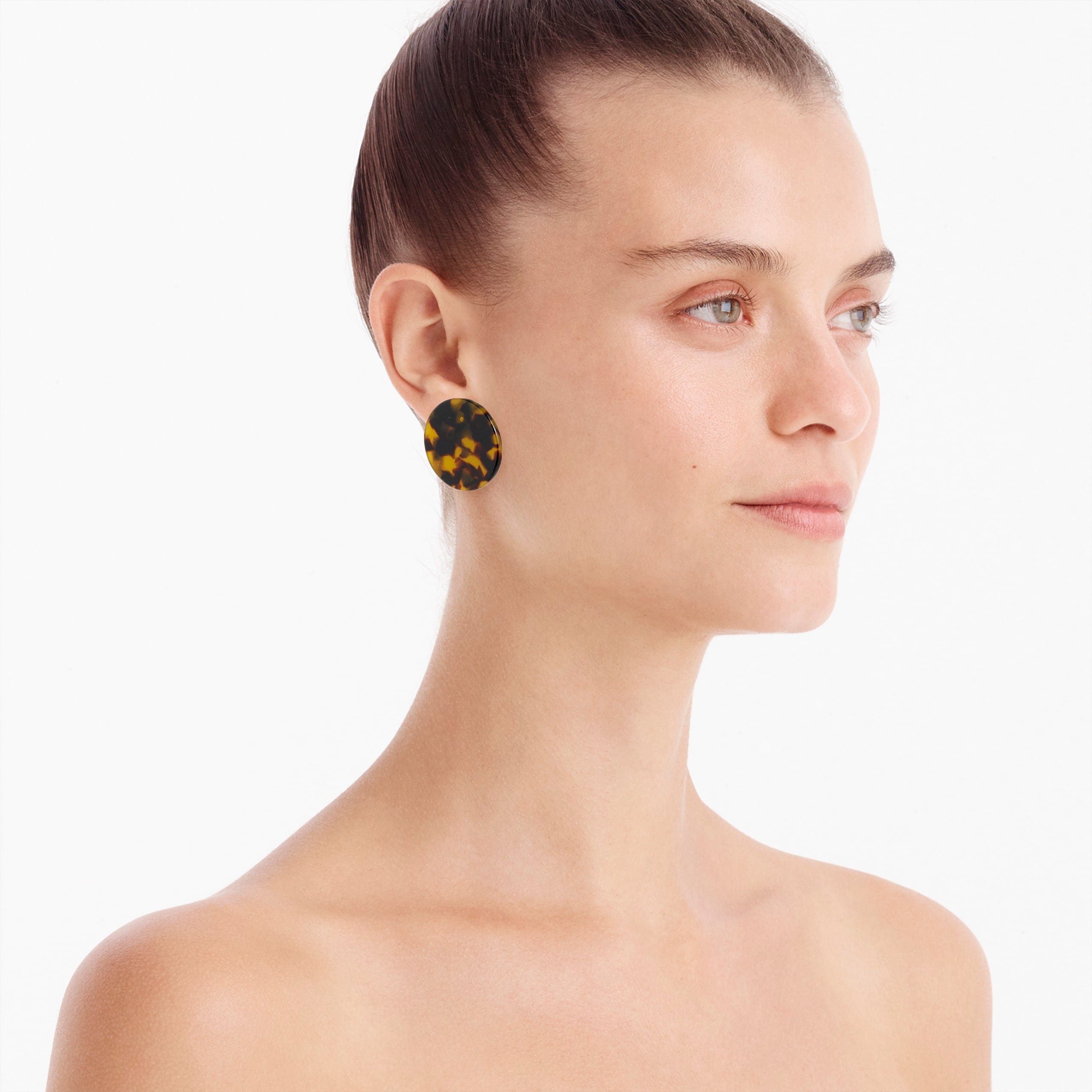 Image 2 for Tortoise disc earrings