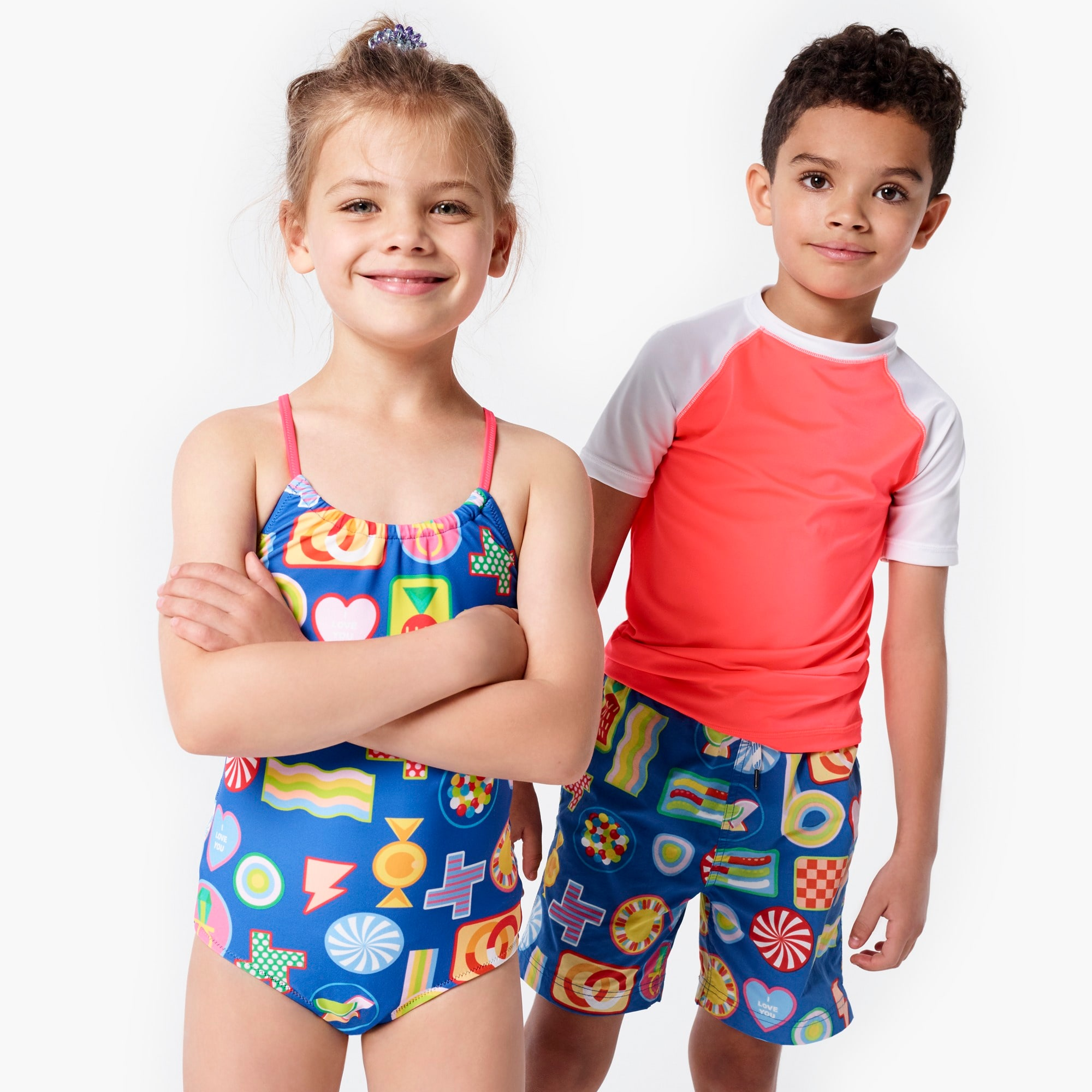 girls Girls' crewcuts X Kid Made Modern one-piece swimsuit