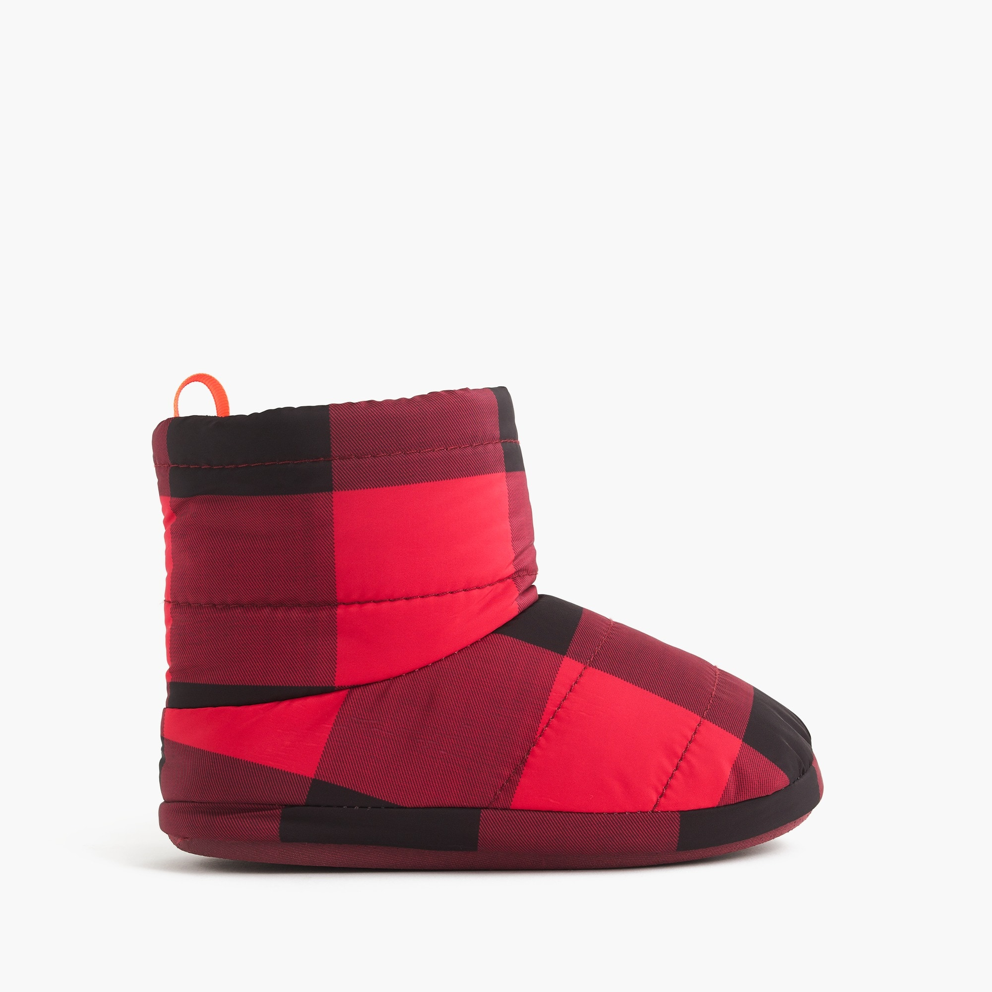 boys Kids' fleece-lined slipper boots in buffalo check