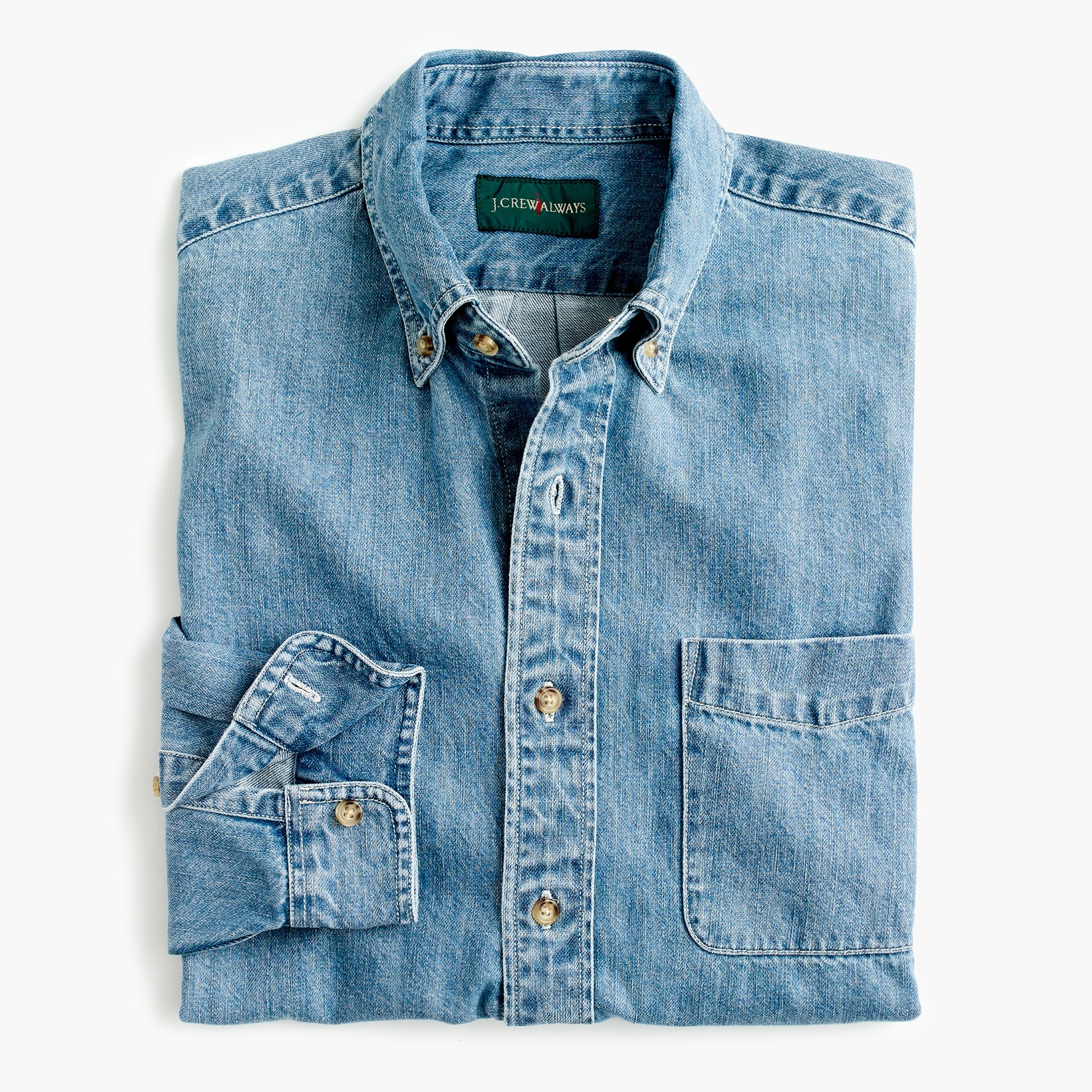 mens J.Crew Always midweight denim shirt