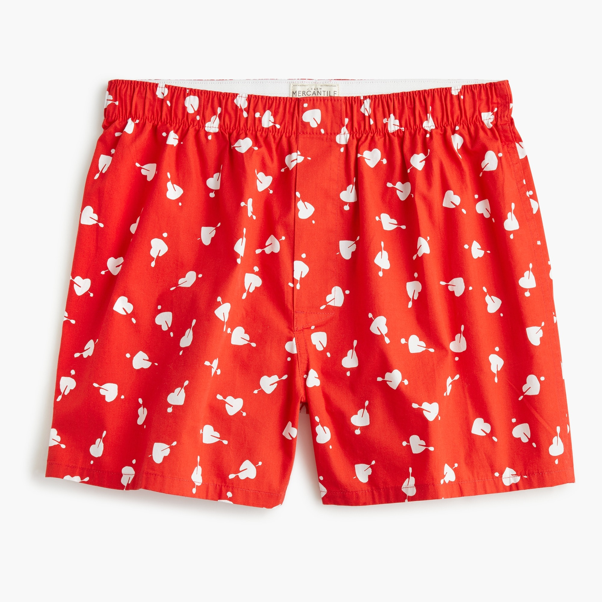mens J.Crew Mercantile hearts and arrows boxer