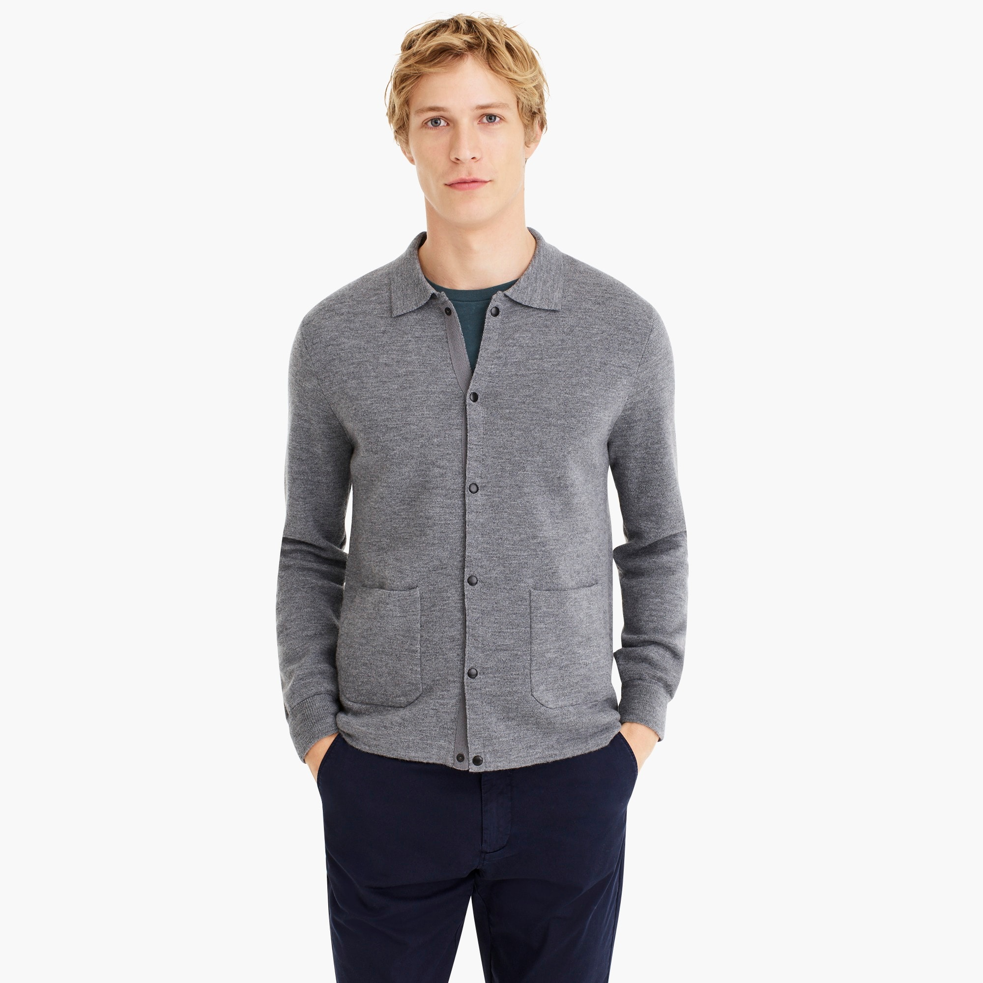 mens Destination merino wool cardigan sweater-jacket