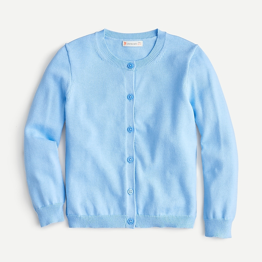j.crew: girls' casey cardigan sweater, right side, view zoomed