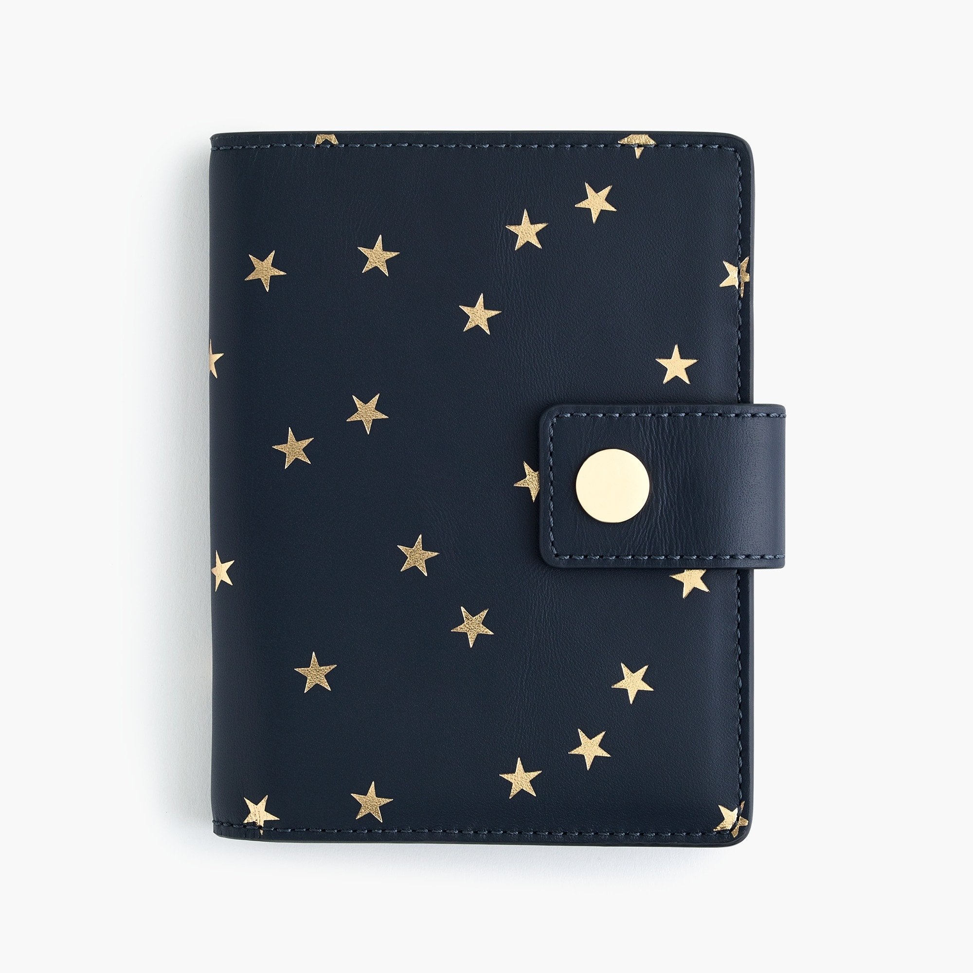womens Print passport case in Italian leather