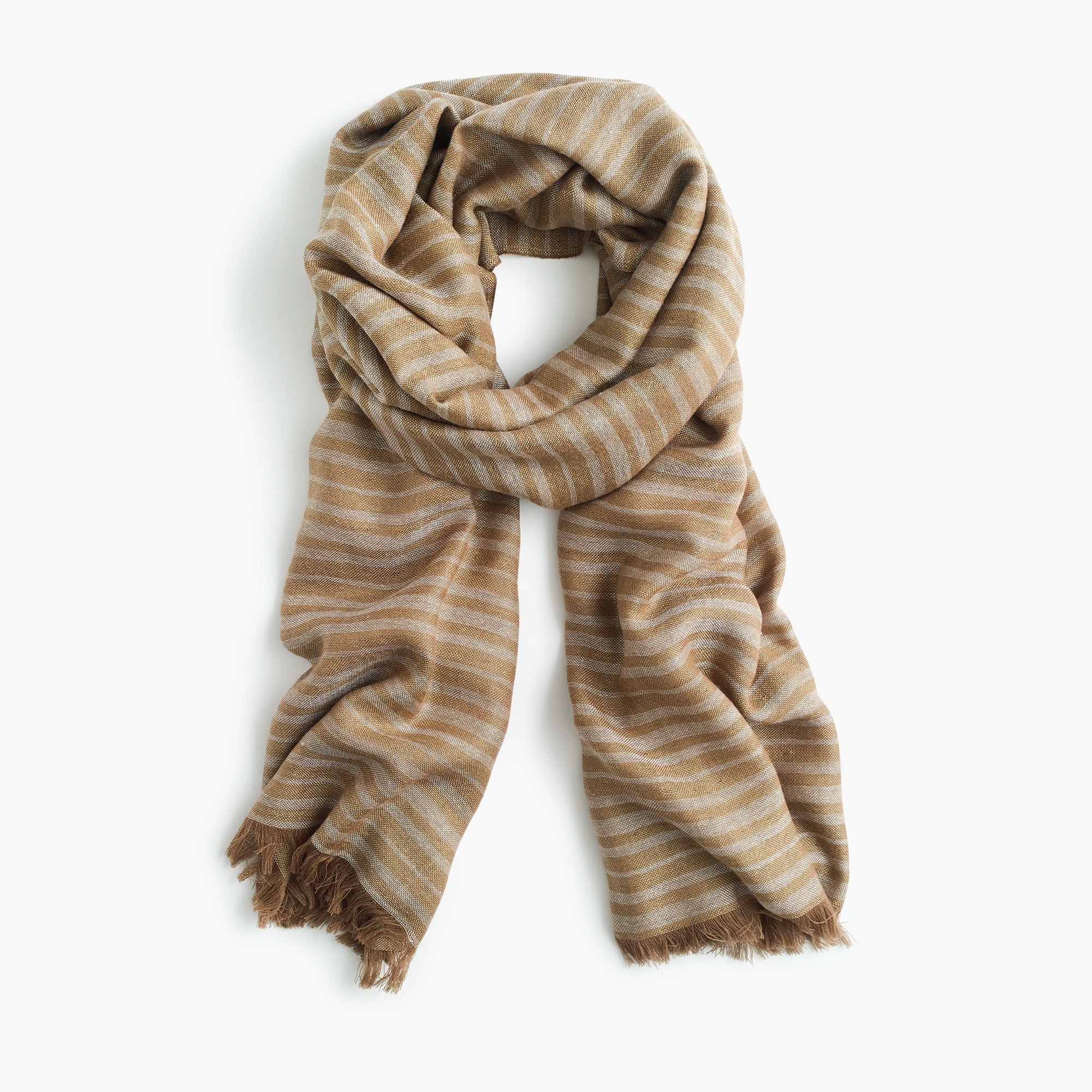 womens Double-sided woven scarf in stripes and solid