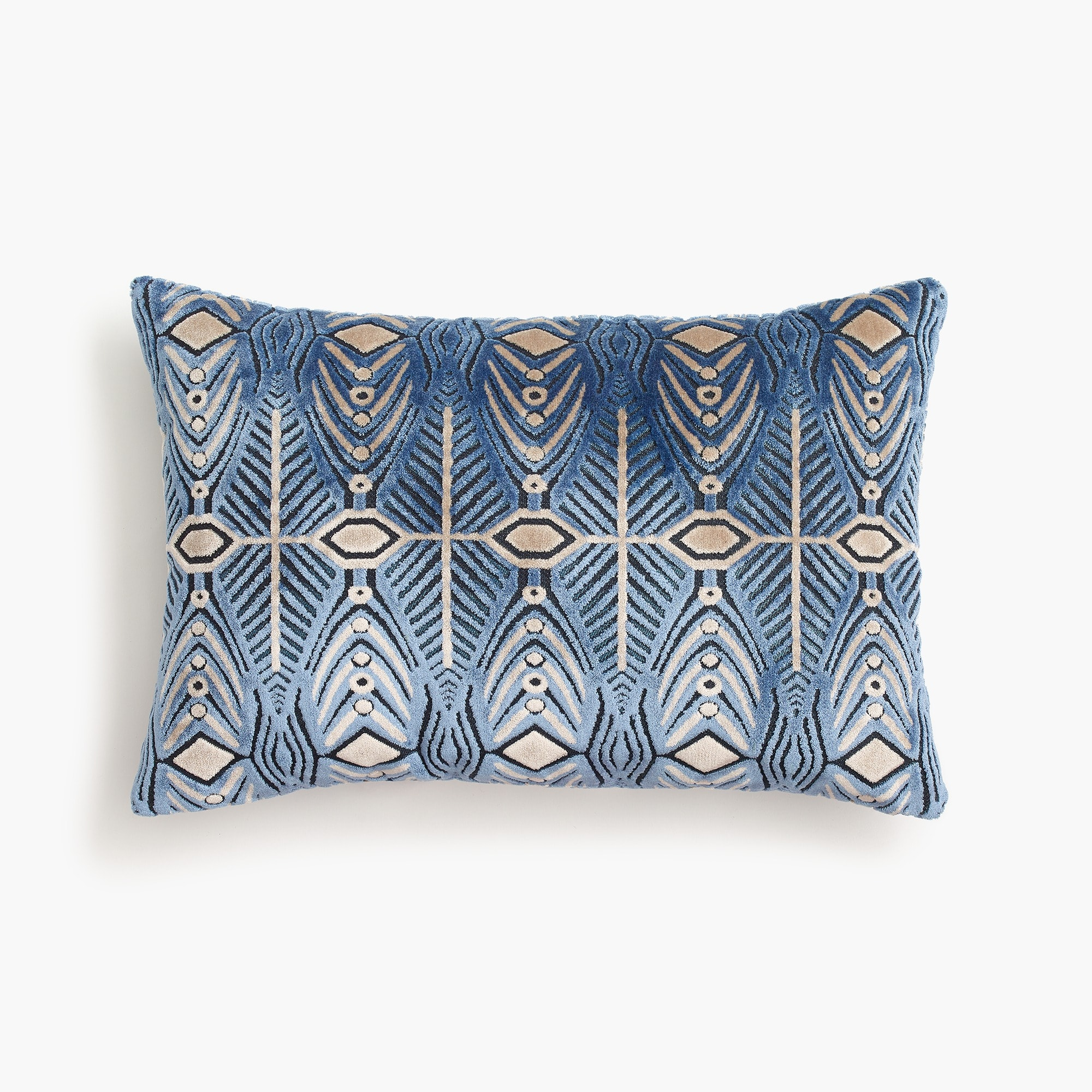 mens Compono velvet pillow in fishbone pattern