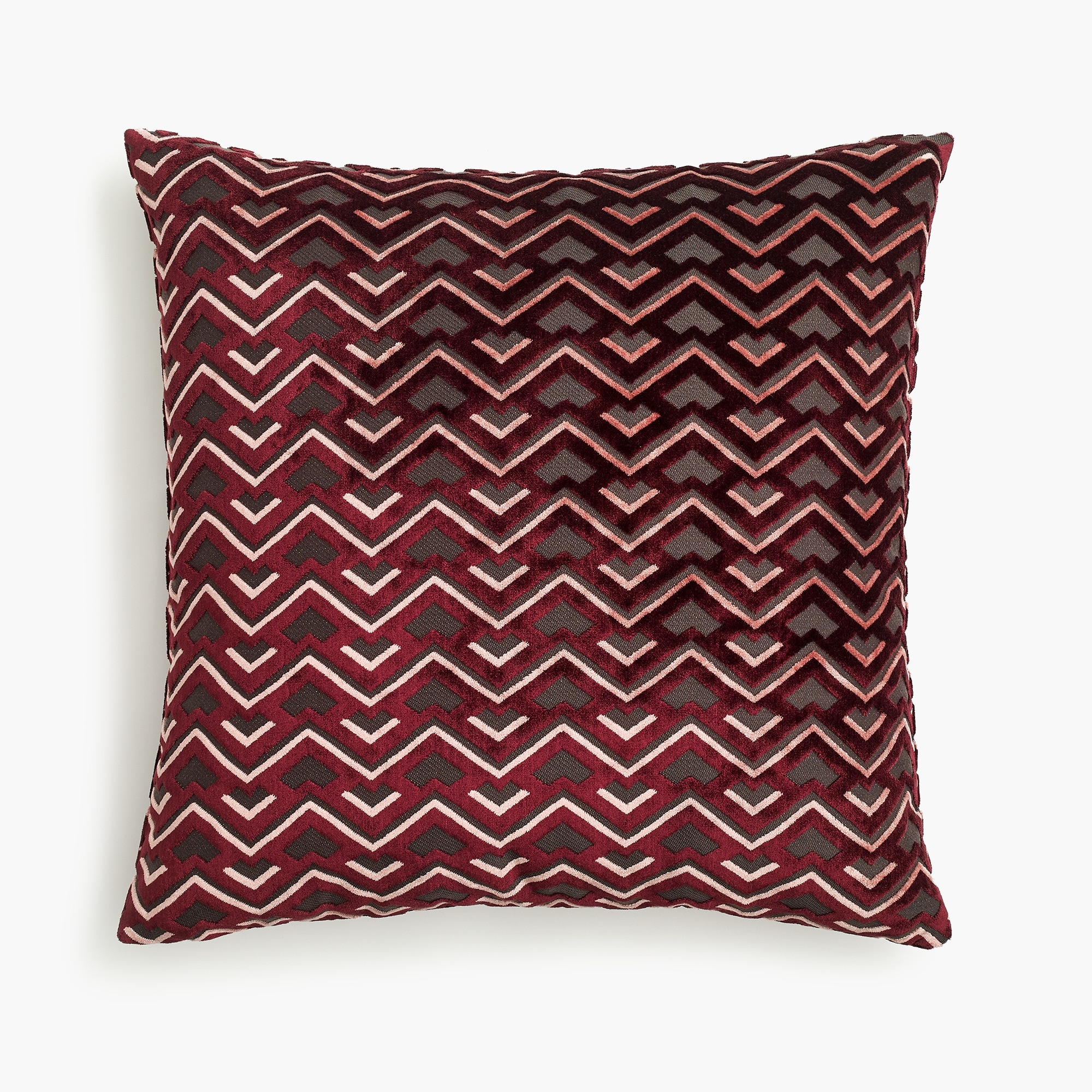 Compono velvet pillow in zigzag pattern