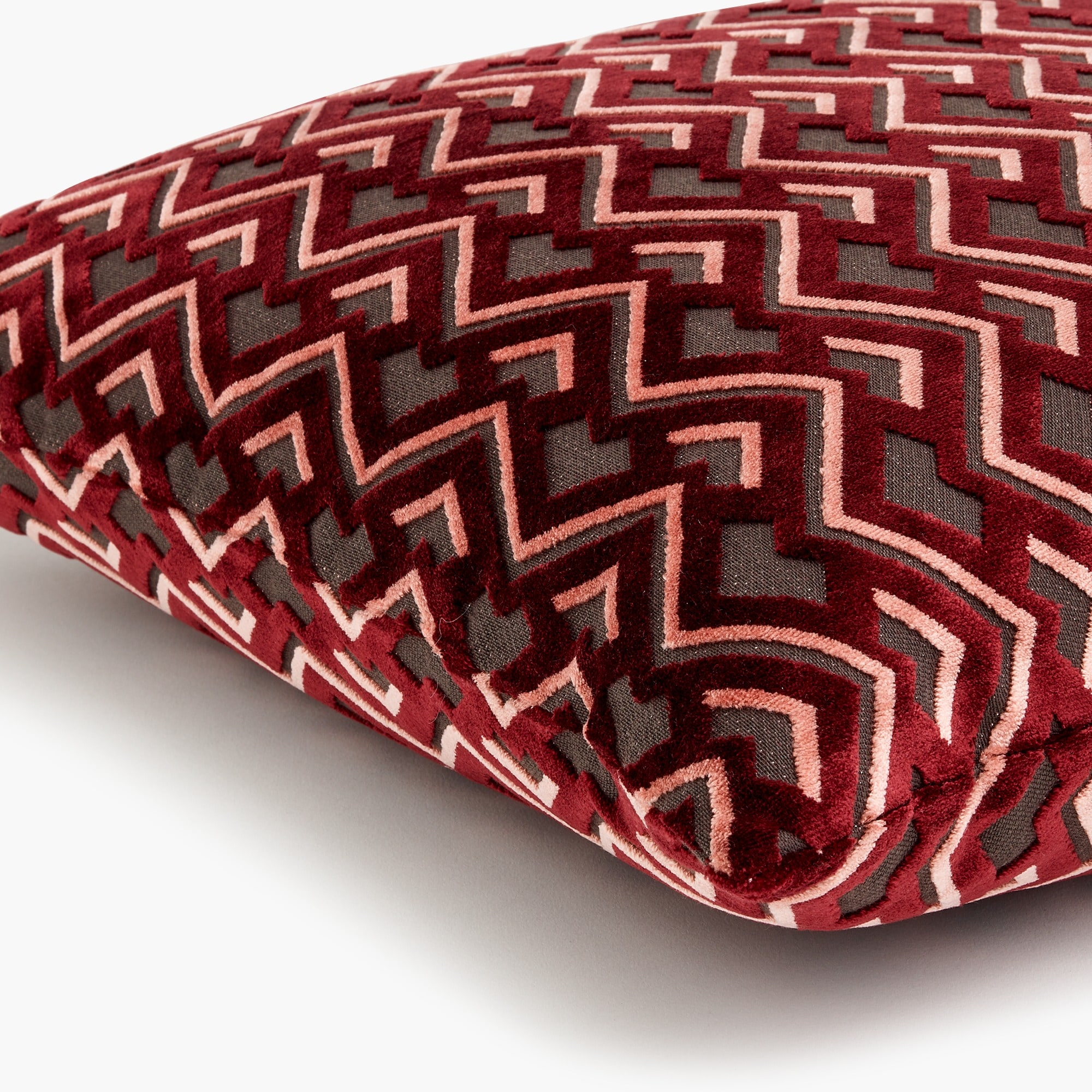 Image 2 for Compono velvet pillow in zigzag pattern
