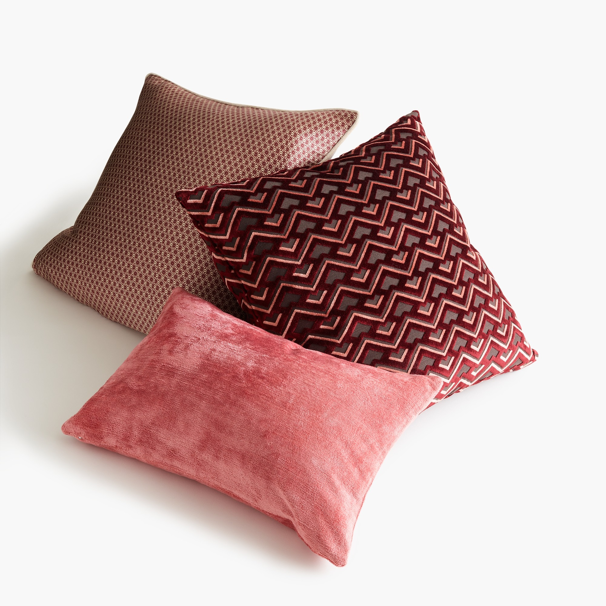 Image 3 for Compono velvet pillow in zigzag pattern