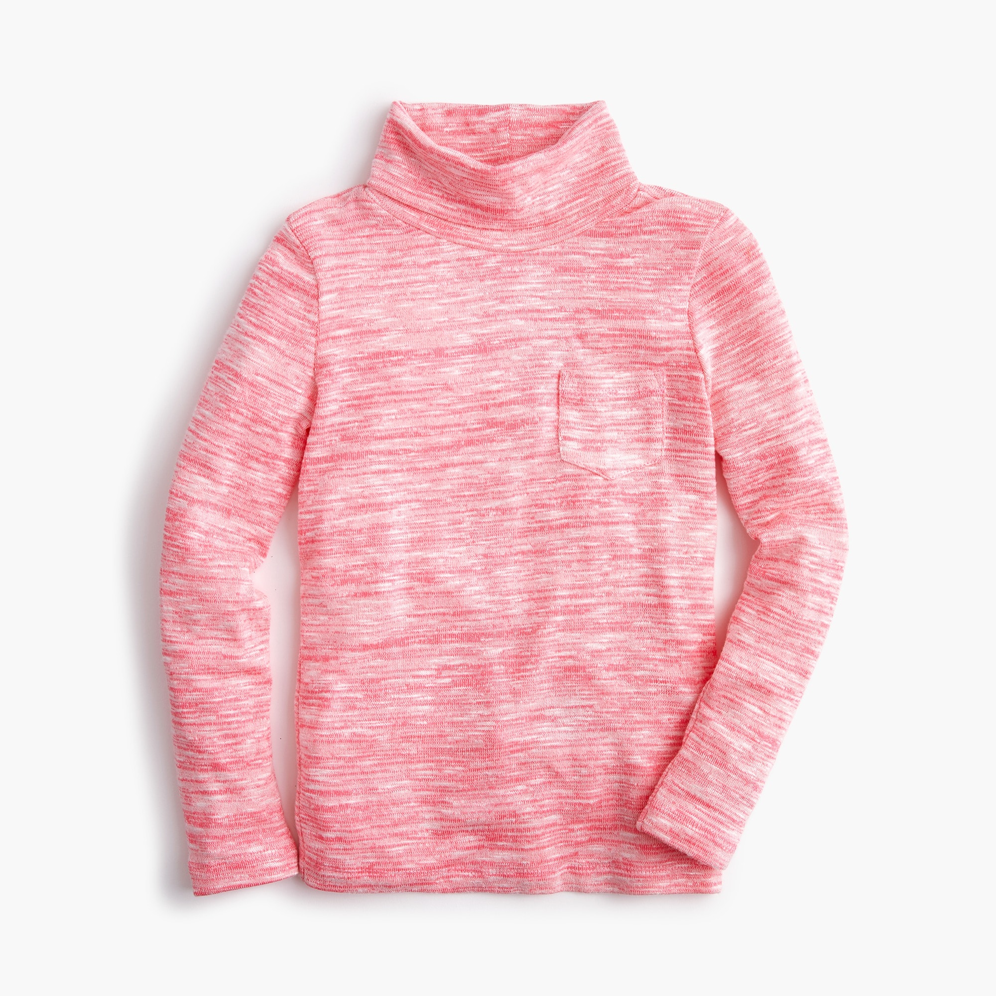girls Girls' pocket turtleneck in superfine yarn