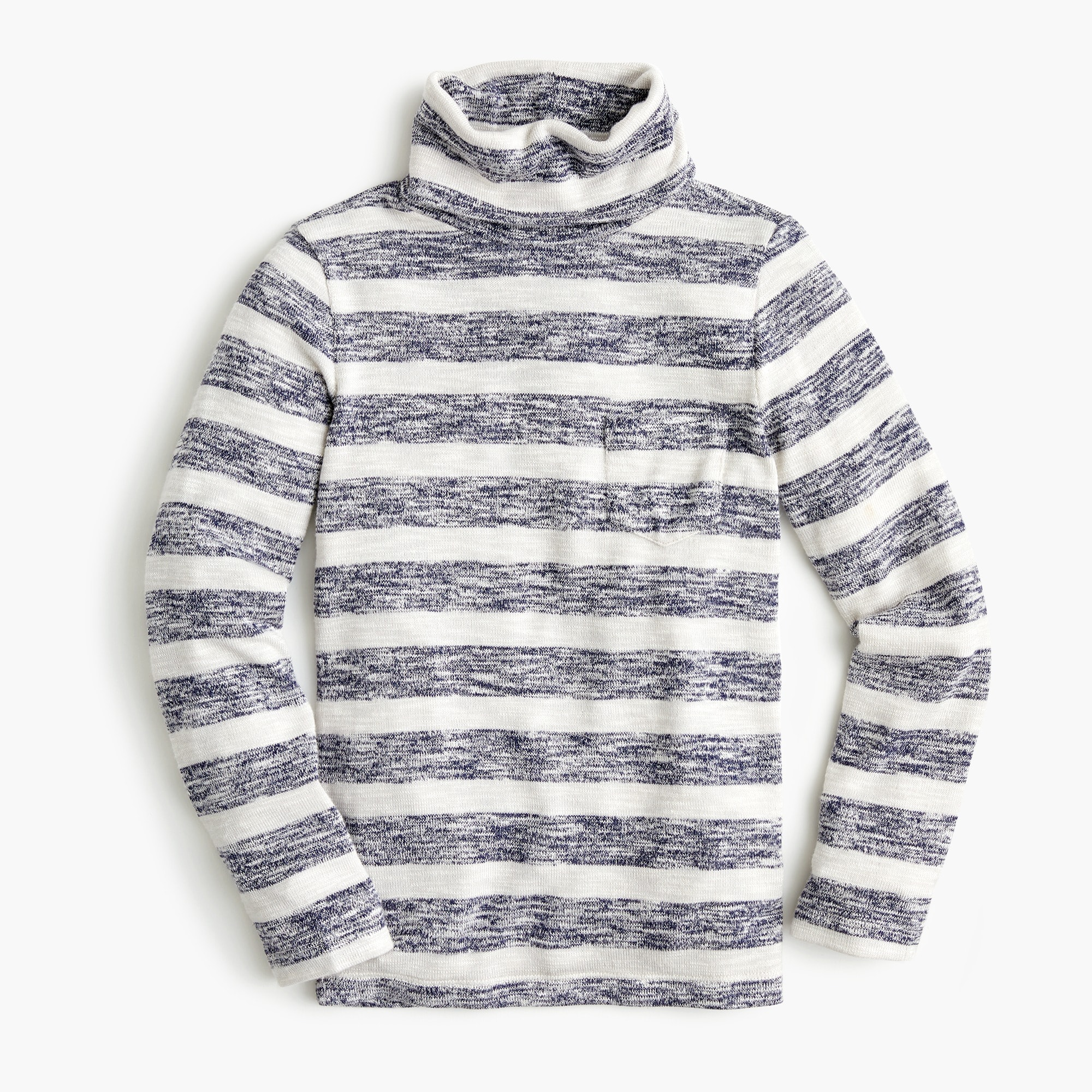 girls Girls' striped pocket turtleneck in superfine yarn