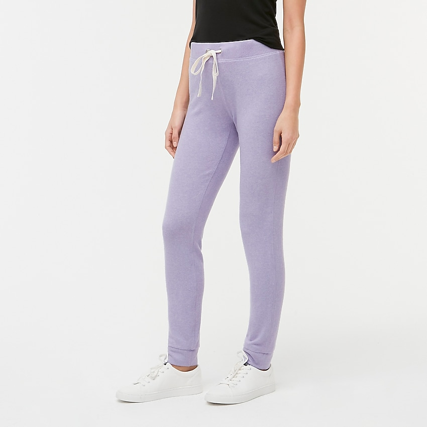 j.crew factory: marled jogger sweatpant in signature cozy yarn, right side, view zoomed