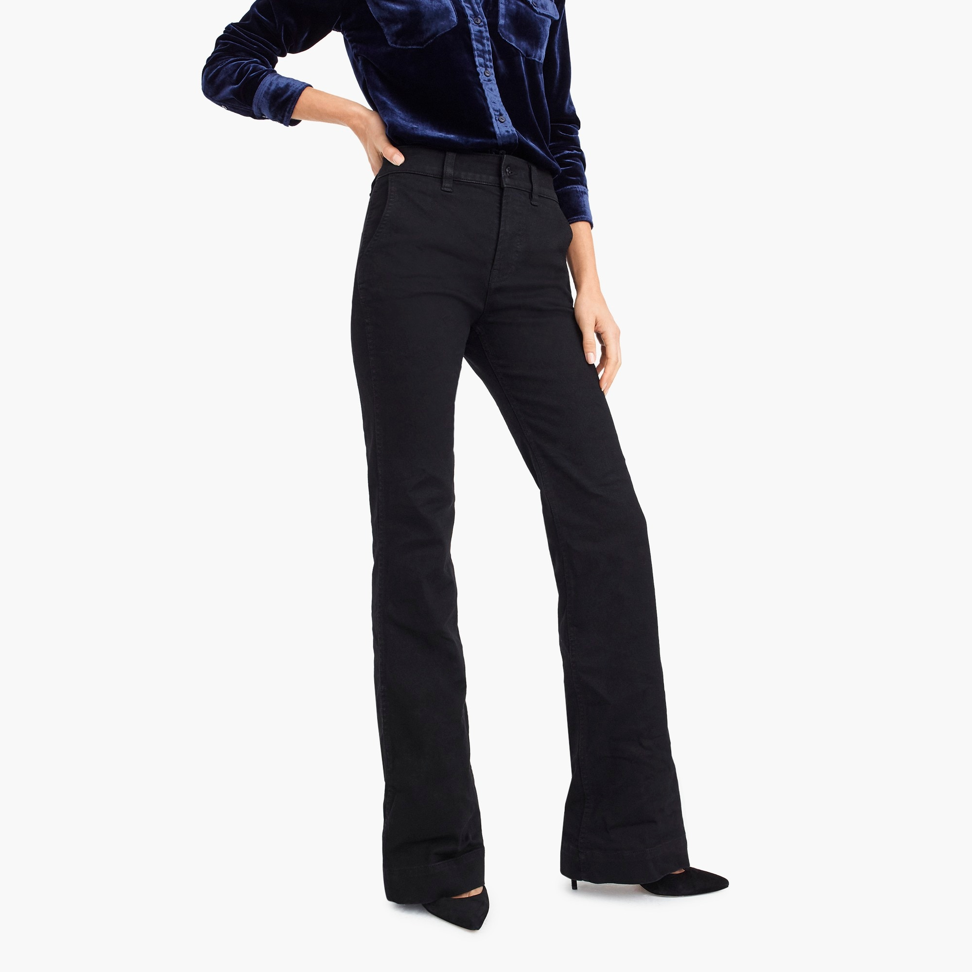 womens Tall wide-leg trouser jean in black
