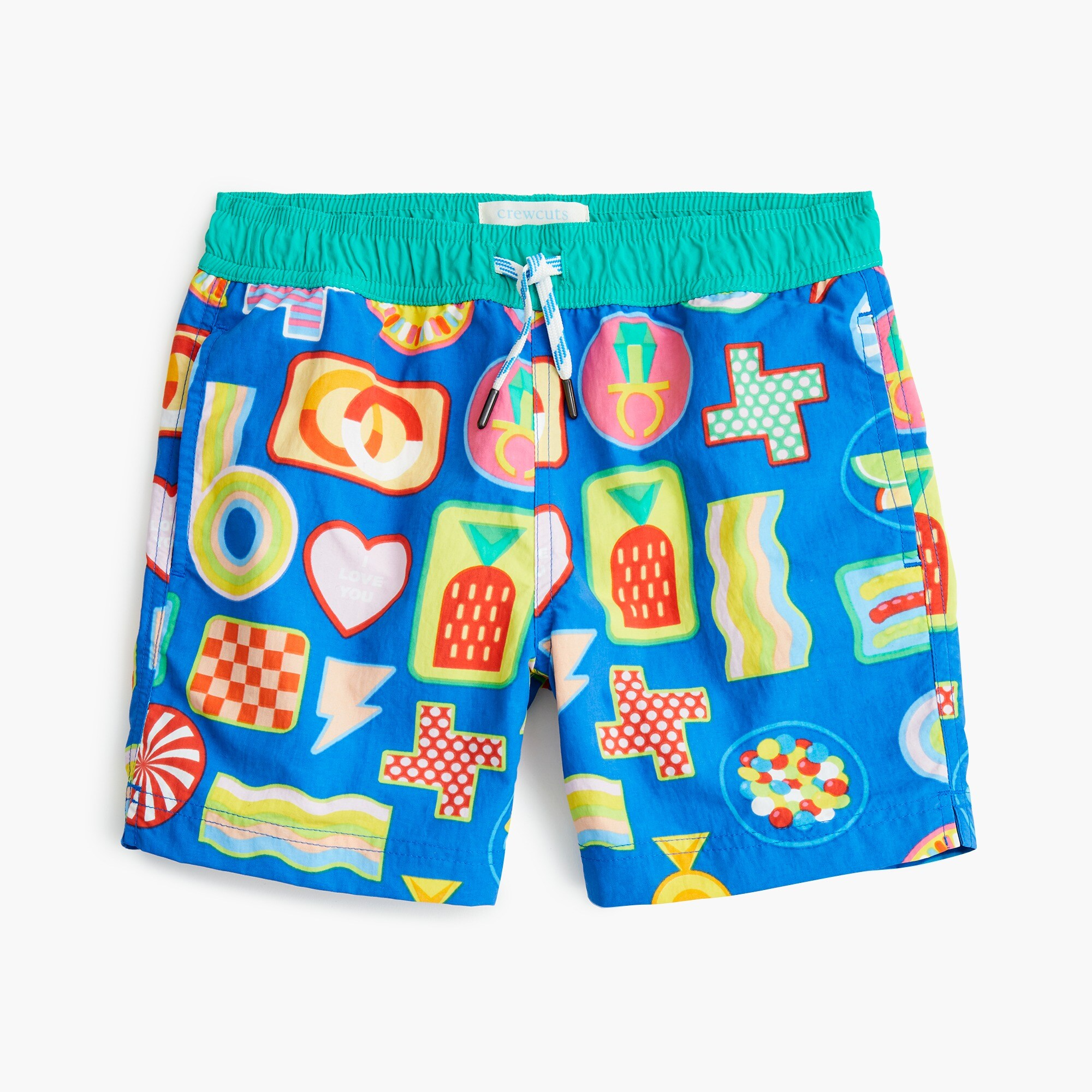 Image 2 for Boys' crewcuts X Kid Made Modern swim trunk