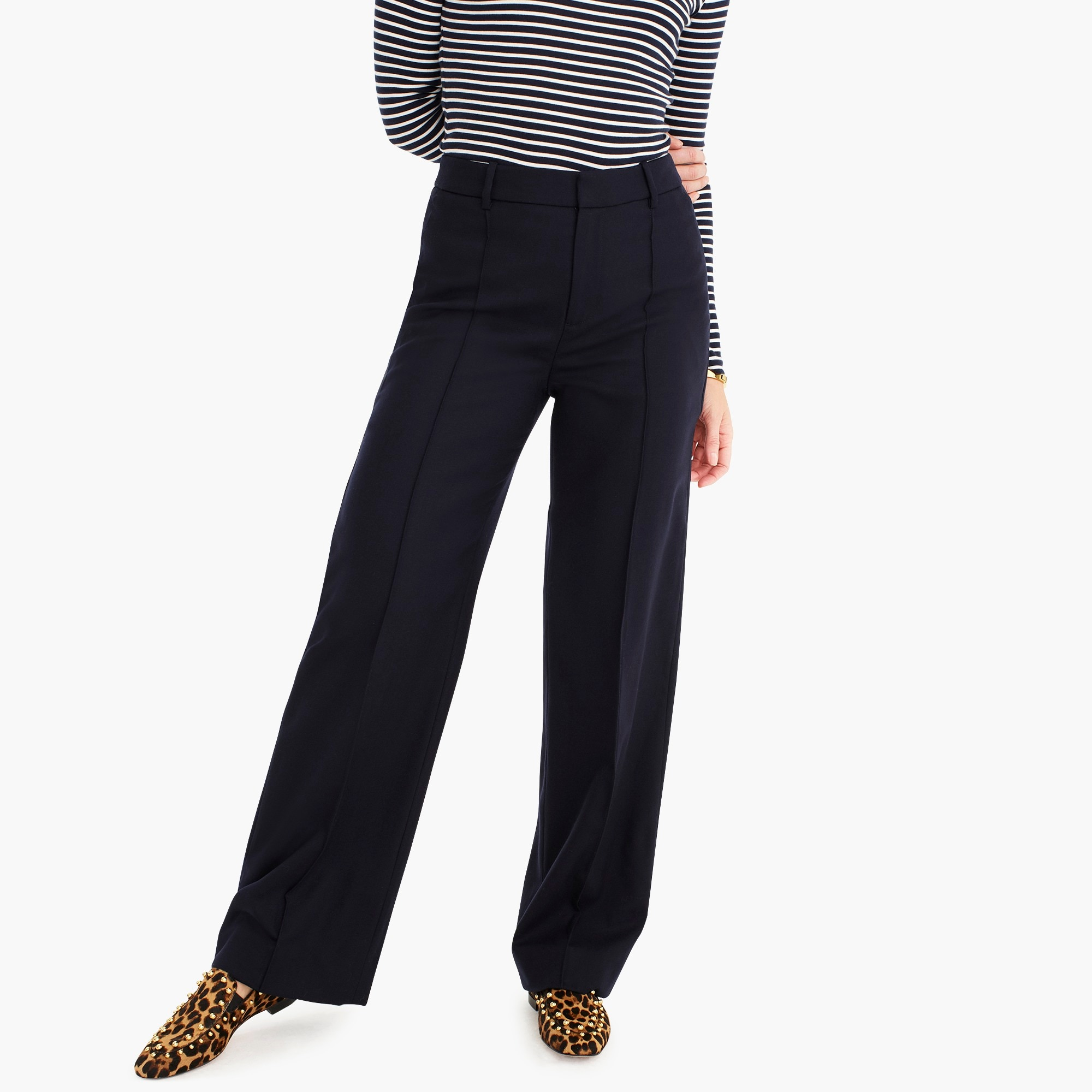 womens Wool flannel full-length trouser