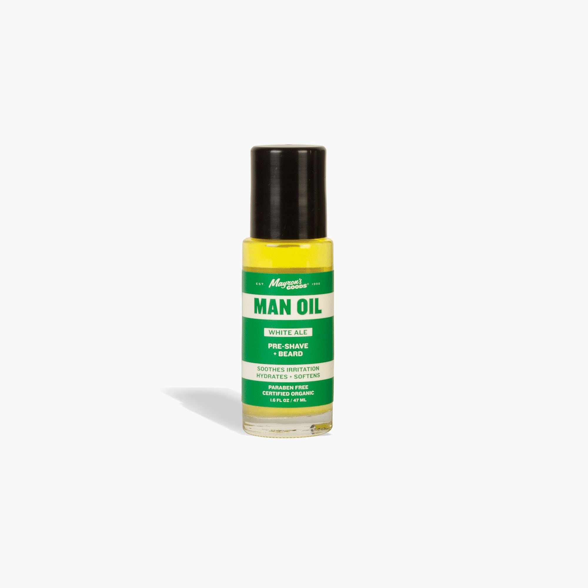 mens Mayron's GOODS® white ale man oil