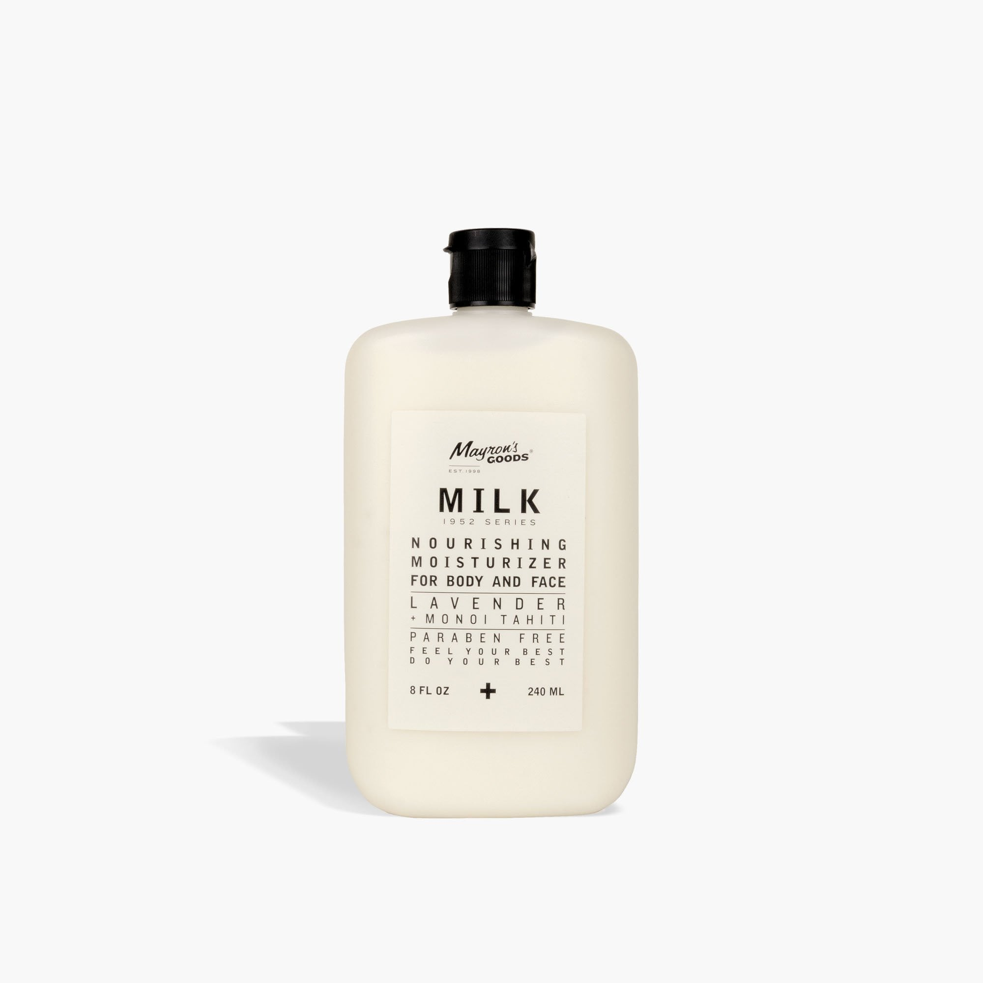 mens Mayron's GOODS® milk 1952 series lotion - lavender + monoi thaiti