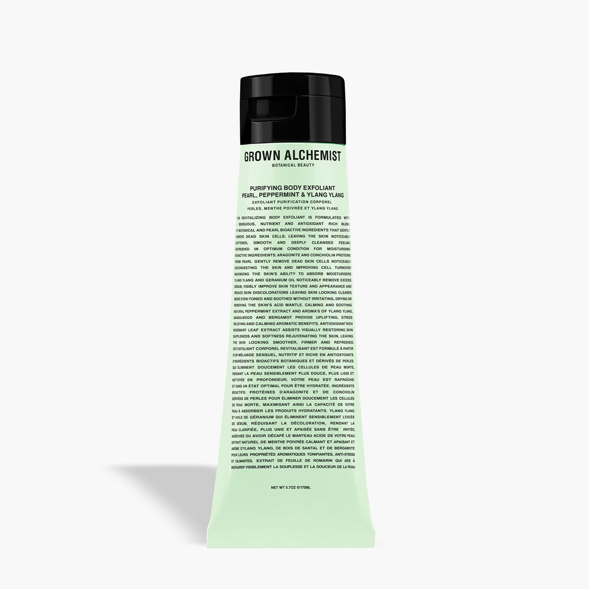 mens GROWN ALCHEMIST® purifying body exfoliant - pearl, pepperment and ylang-ylang