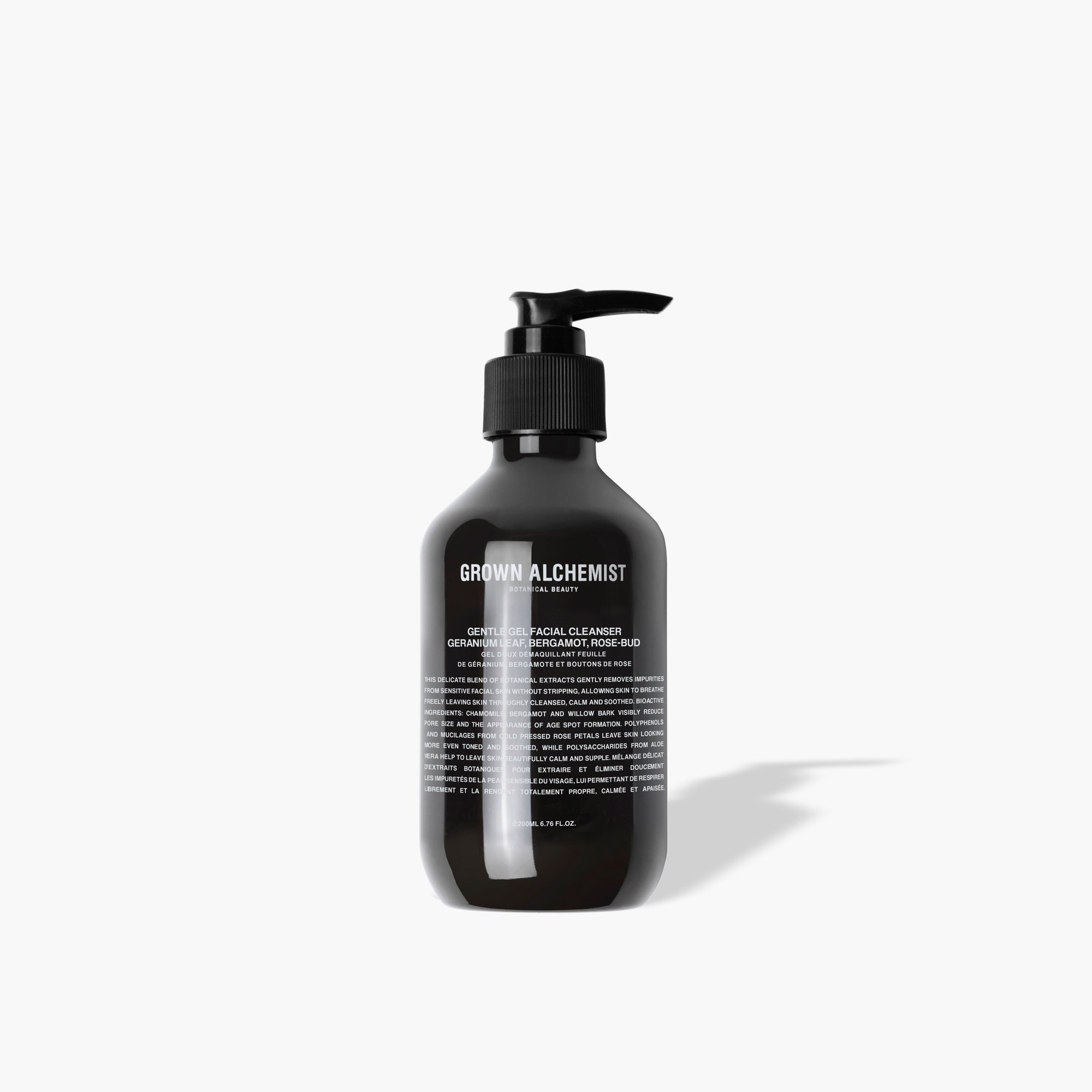 mens GROWN ALCHEMIST® gentle gel facial cleanser - geranium, bergamot and rosebud