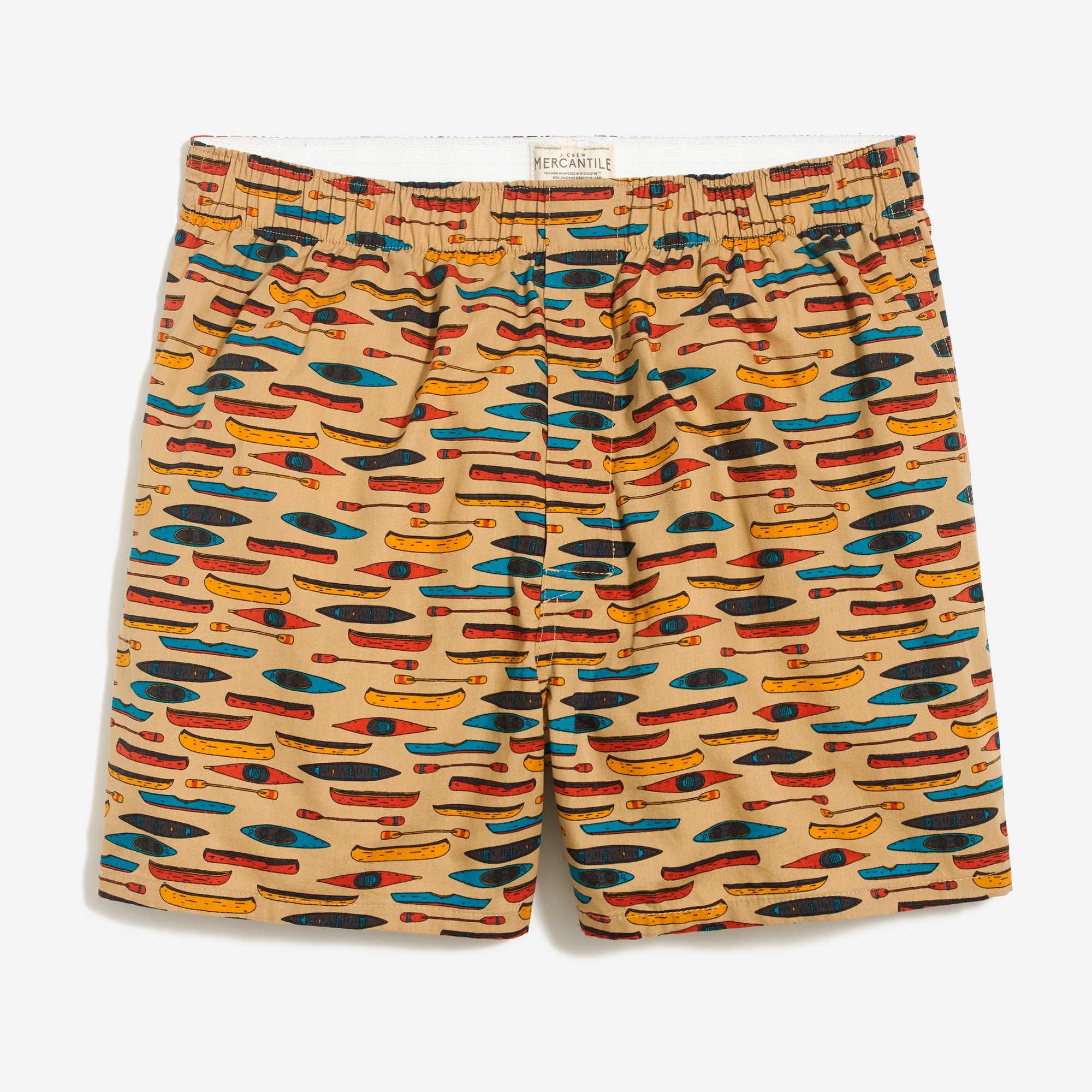 Image 1 for J.Crew Mercantile boxer in kayaks and canoes print