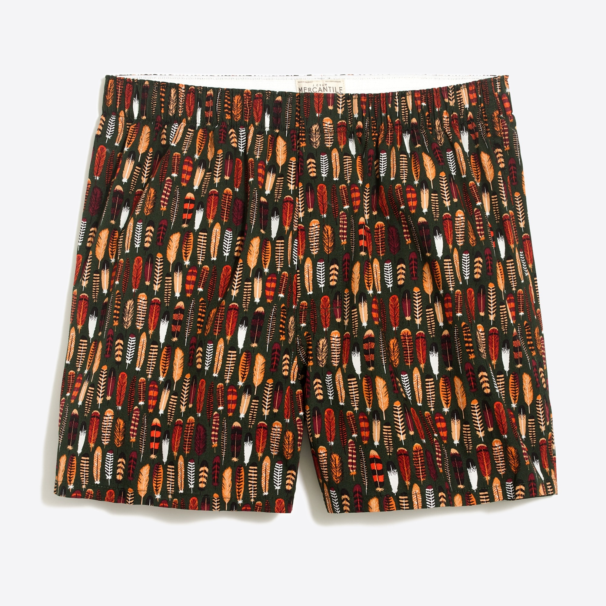 mens J.Crew Mercantile boxer in feather atlas print