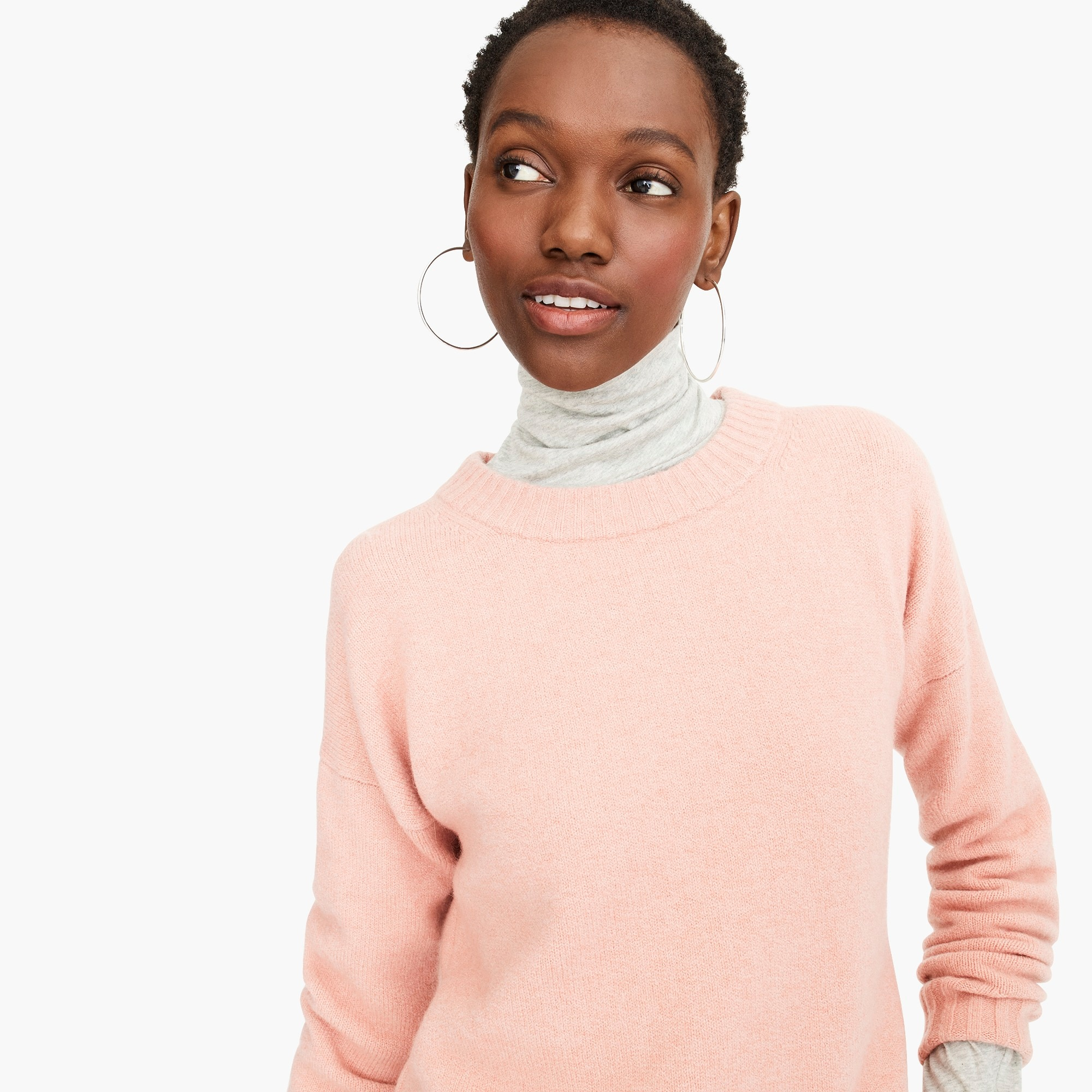 womens Oversized crewneck sweater in supersoft yarn