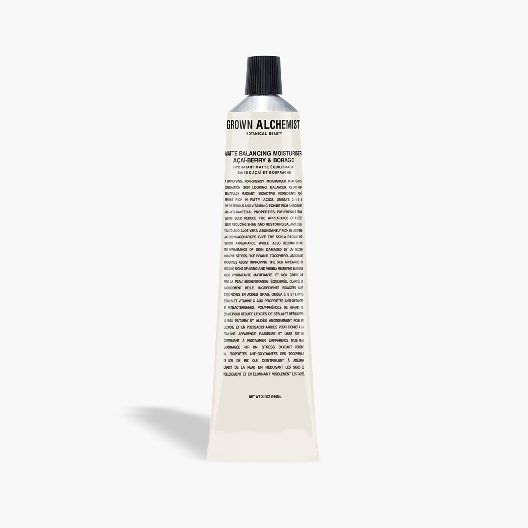 mens GROWN ALCHEMIST® matte balancing moisturizer - açaí berry and borago