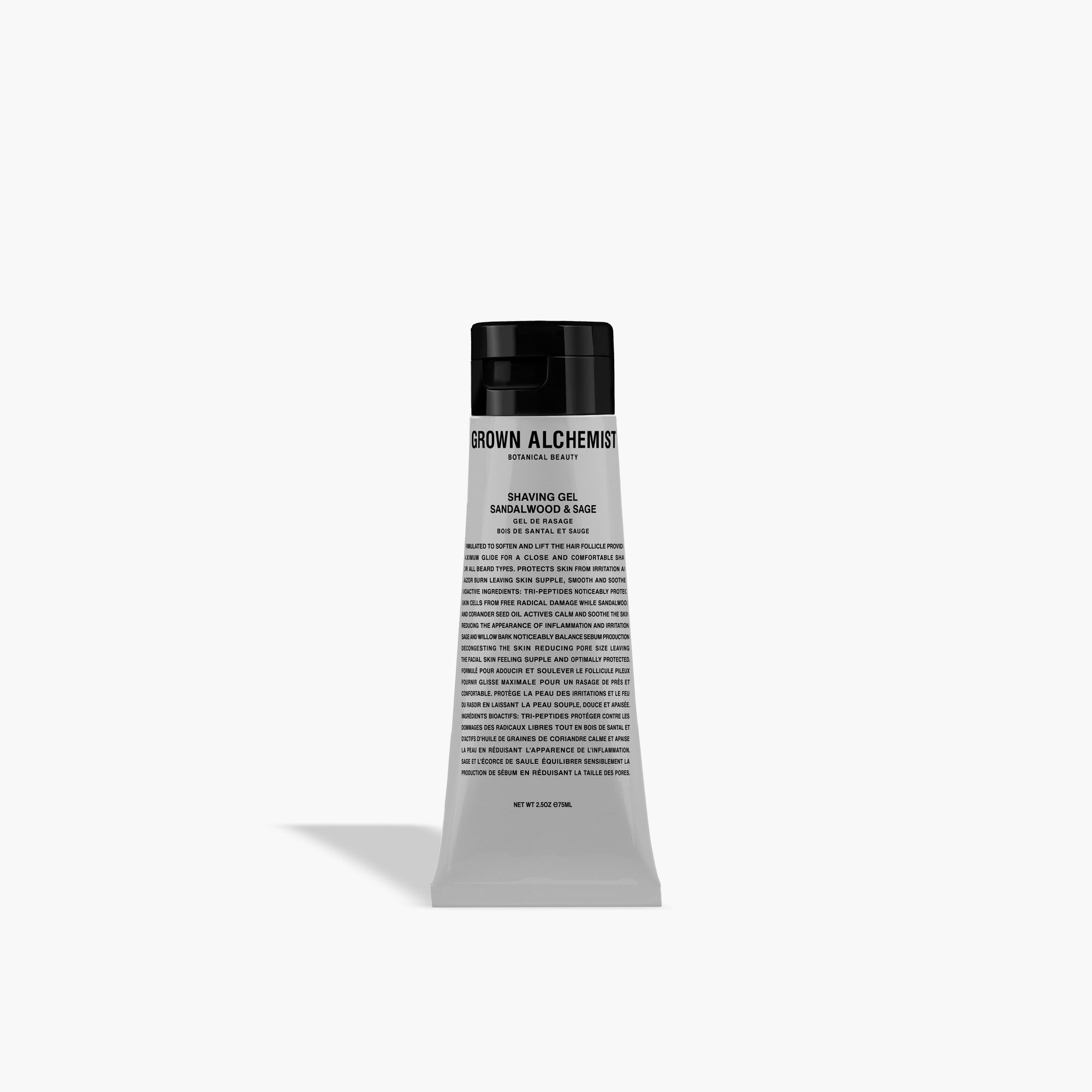 mens GROWN ALCHEMIST® shaving gel - sandalwood and sage