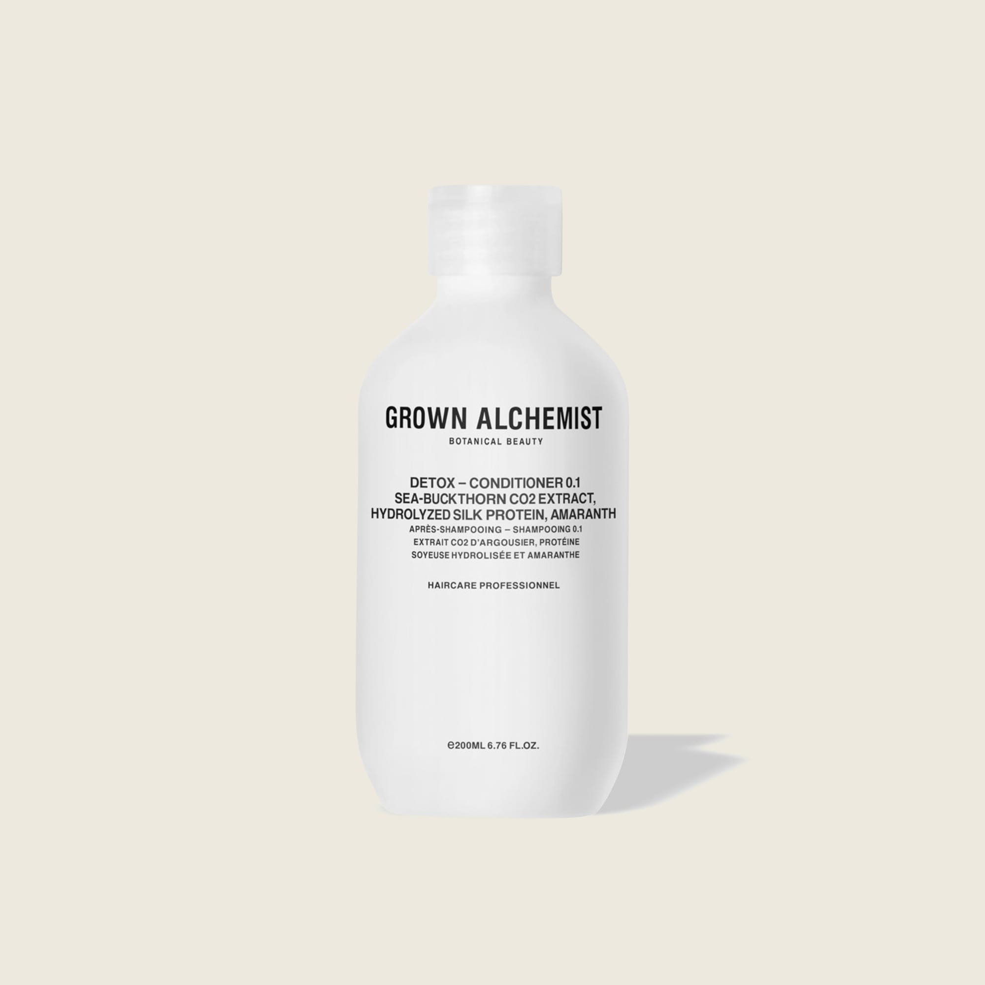 mens GROWN ALCHEMIST® 200 ml detox conditioner 0.1 - sea buckthorn CO2 extract, hydrolyzed silk protein and amaranth