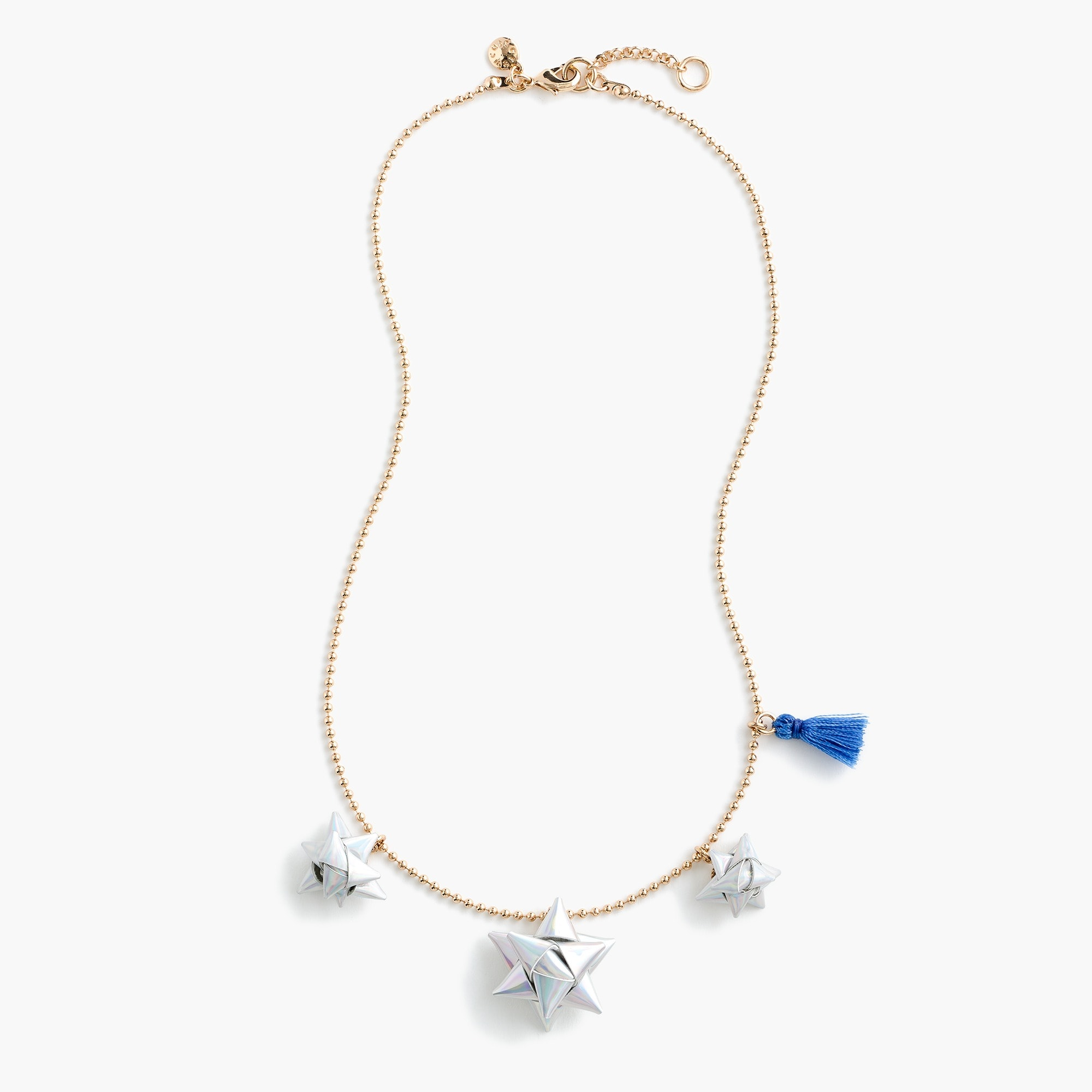 girls Girls' gift-bow charm necklace