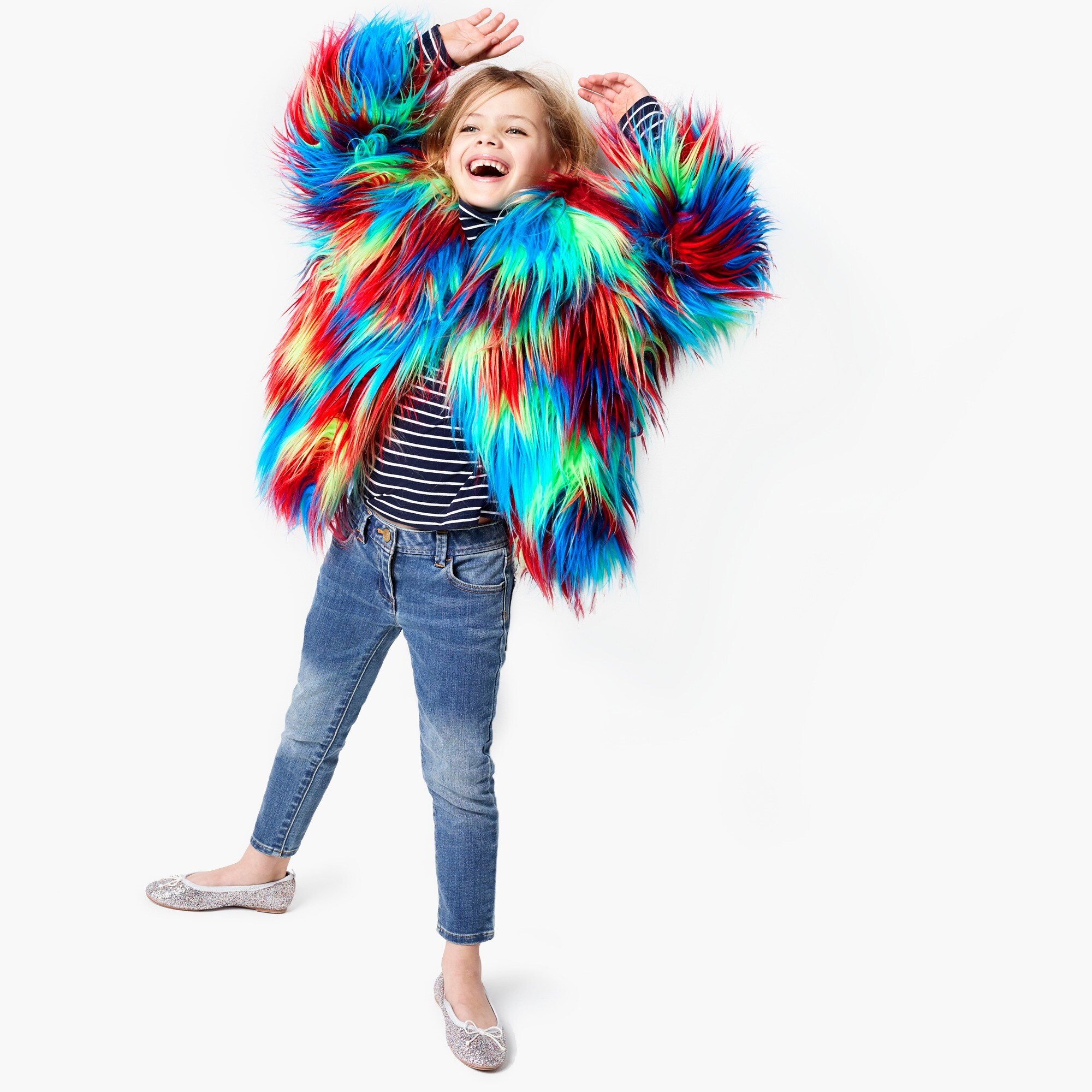 girls Girls' crewcuts X Kid Made Modern faux-fur jacket