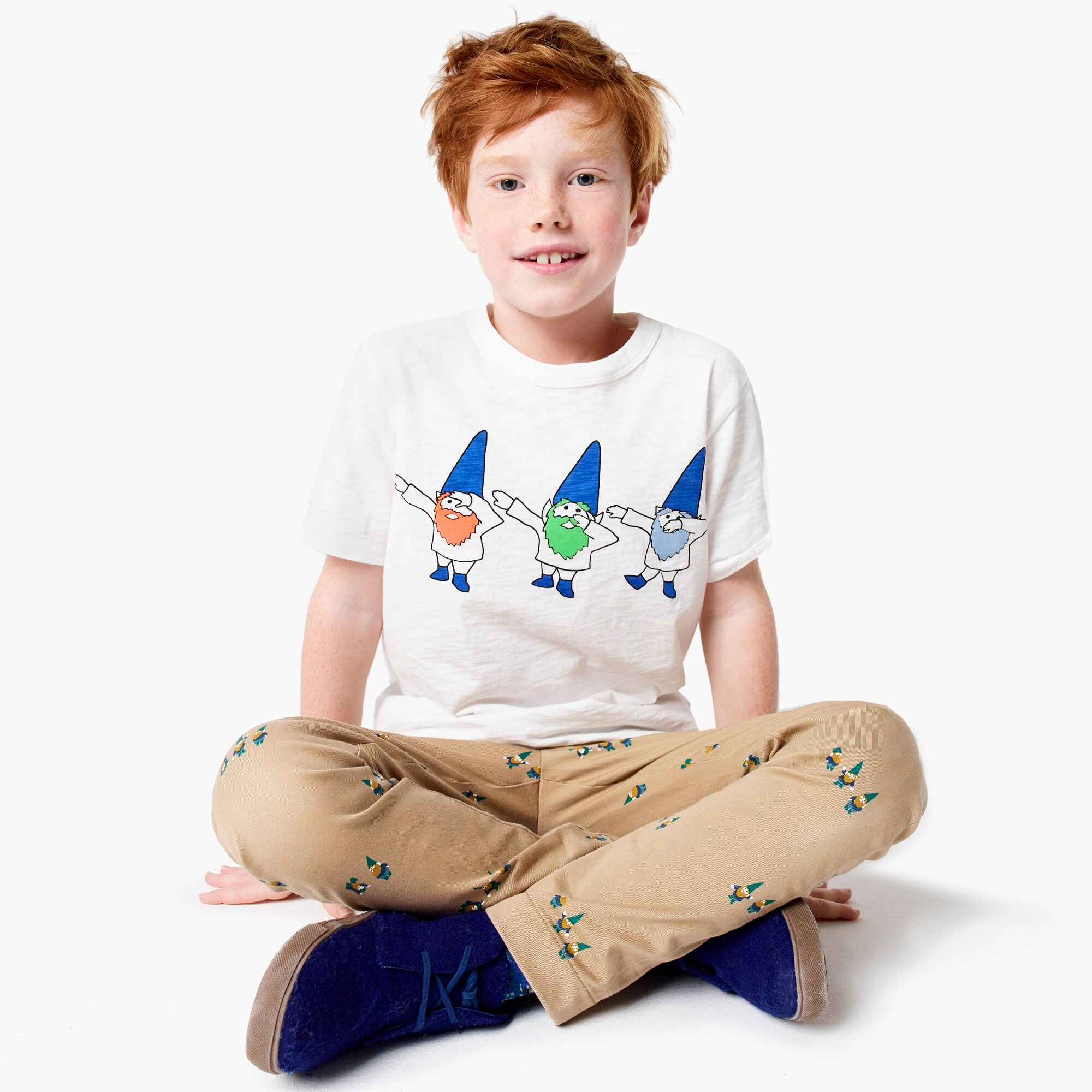 boys Kids' dabbing gnomes T-shirt