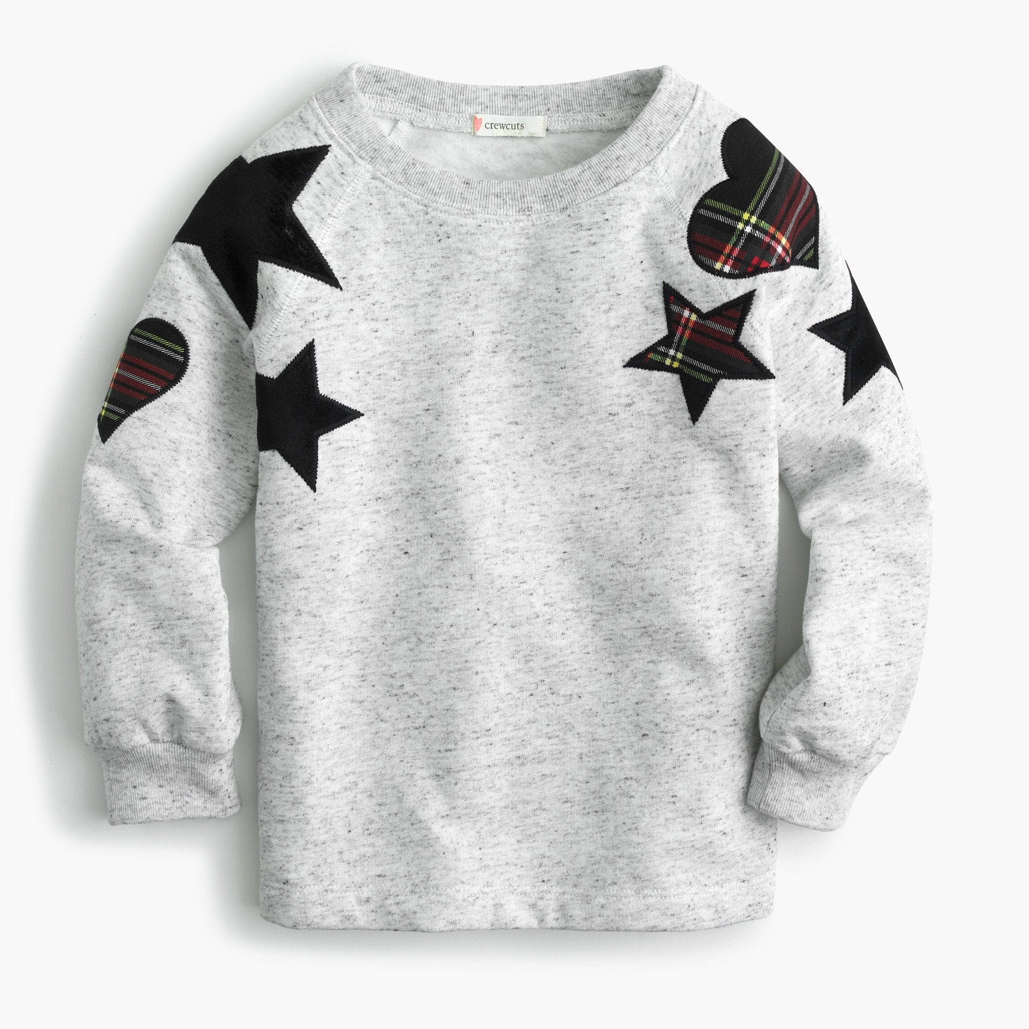 girls Girls' sweatshirt with heart and star patches
