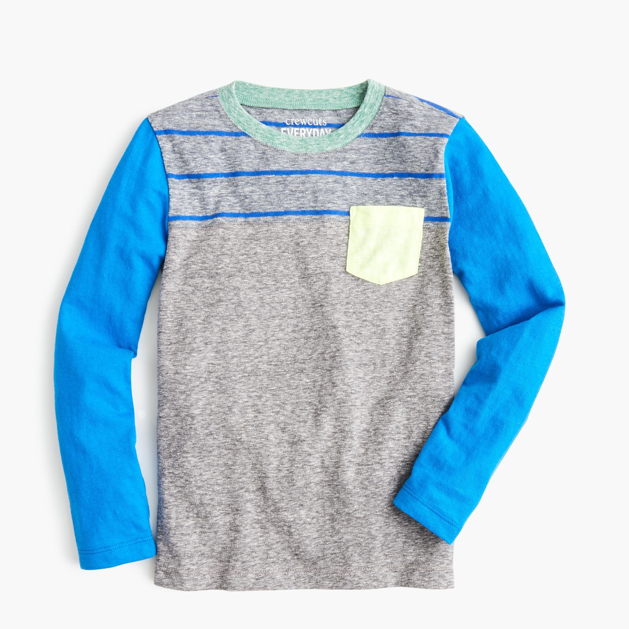 Image 1 for Boys' colorblock pocket T-shirt with stripes