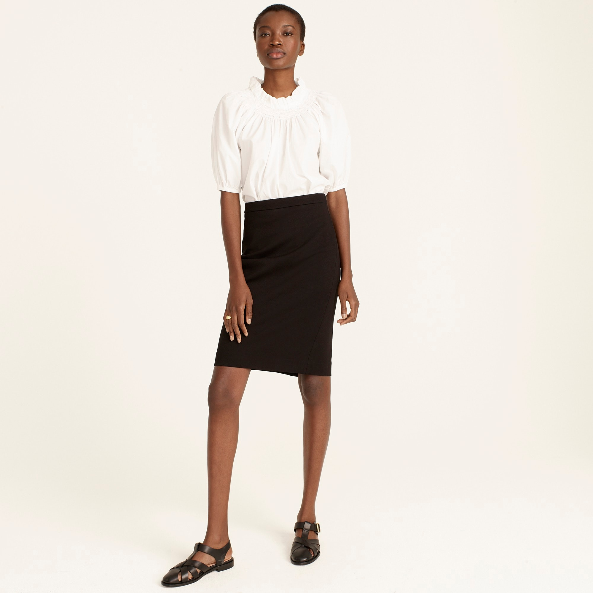 womens No. 2 pencil skirt in stretch twill