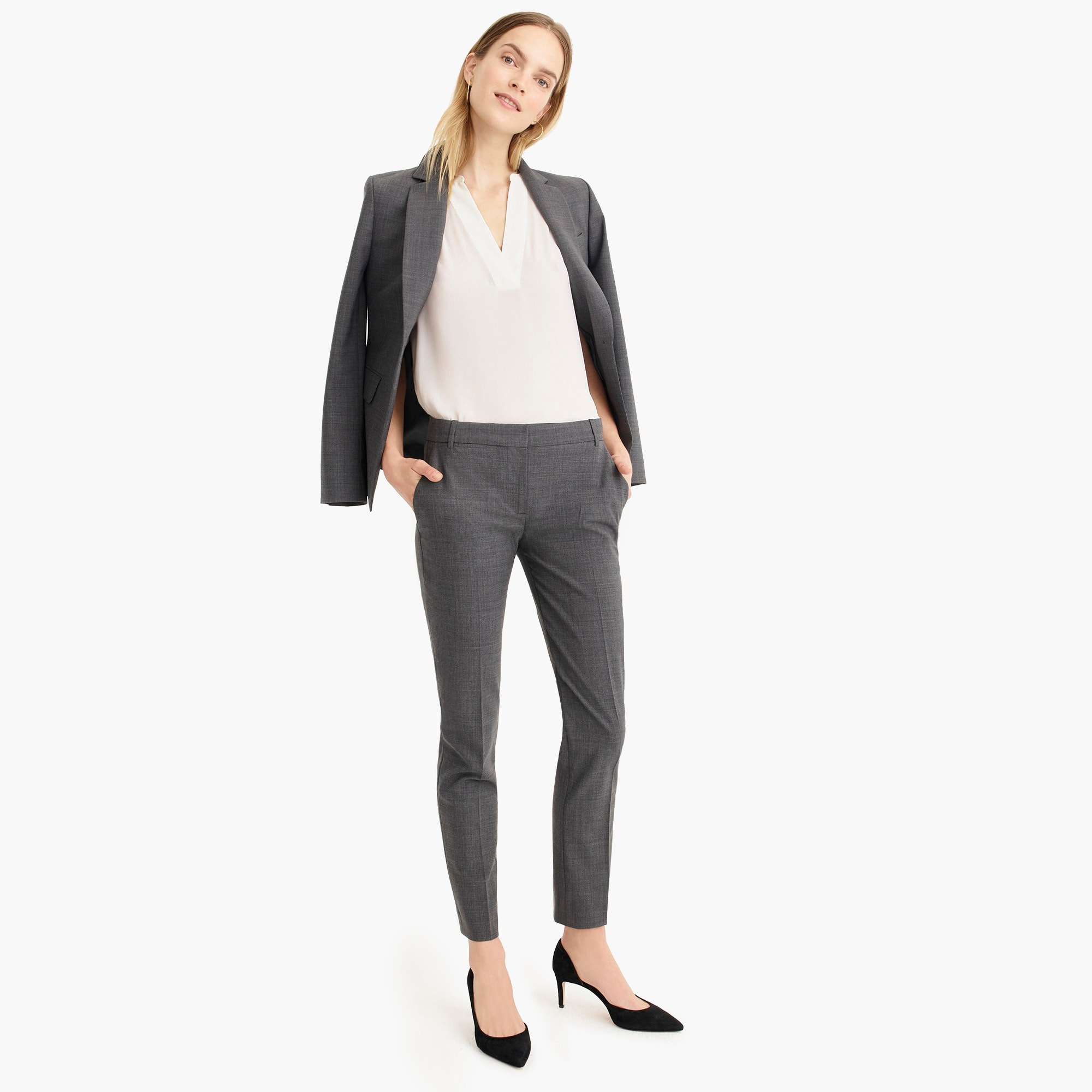 womens Full length pant in everyday wool