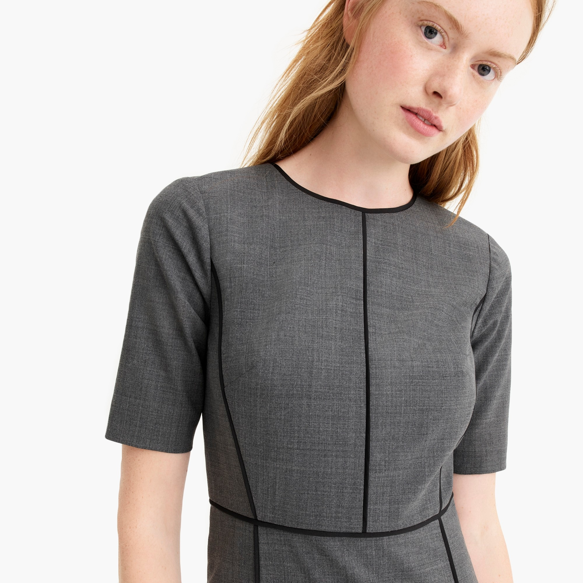 womens Paneled sheath dress in everyday wool