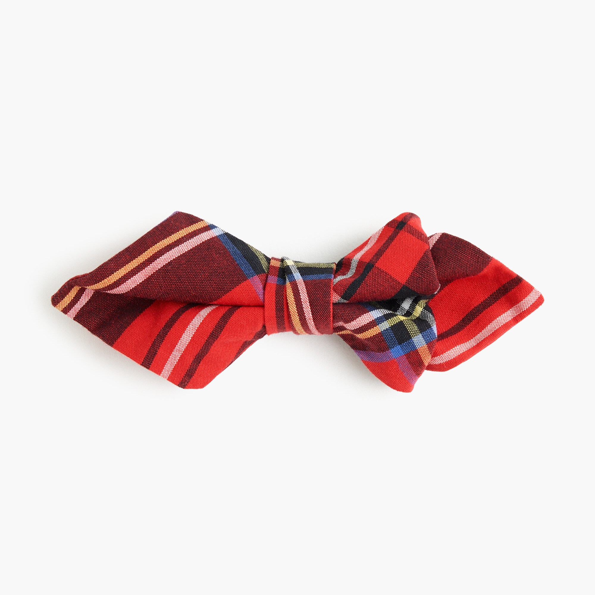 boys Boys' cotton bow tie in Brodie red tartan