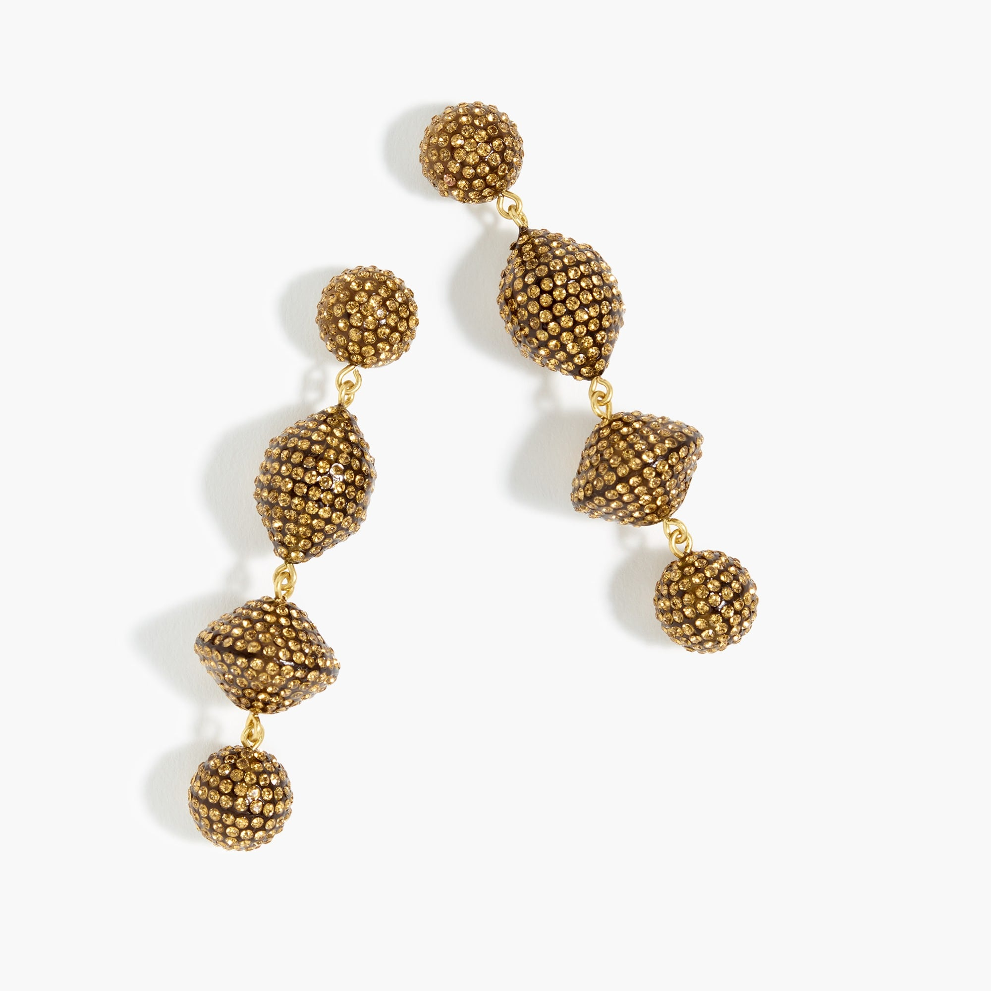 womens Pavé resin statement earrings