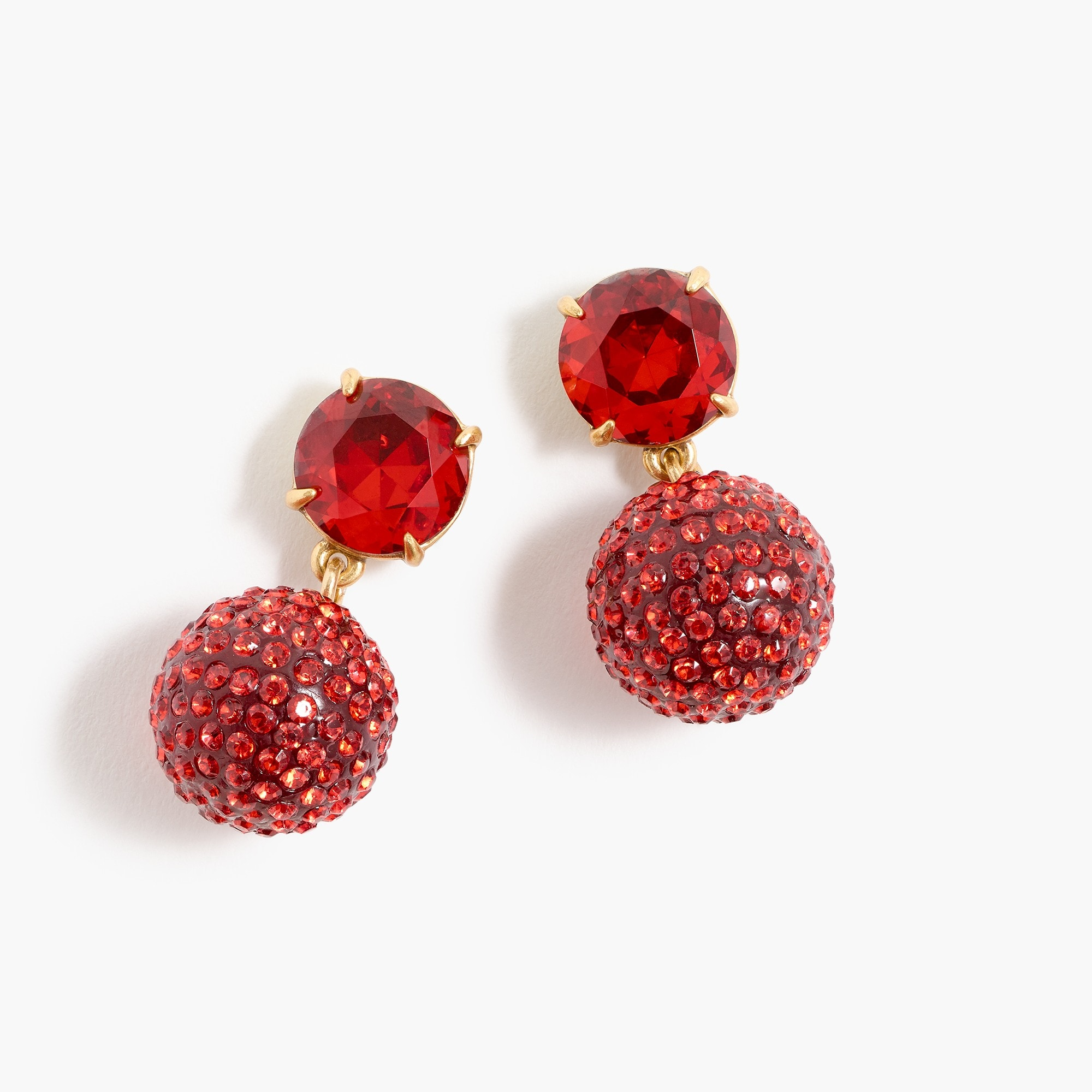 womens Pavé resin earrings