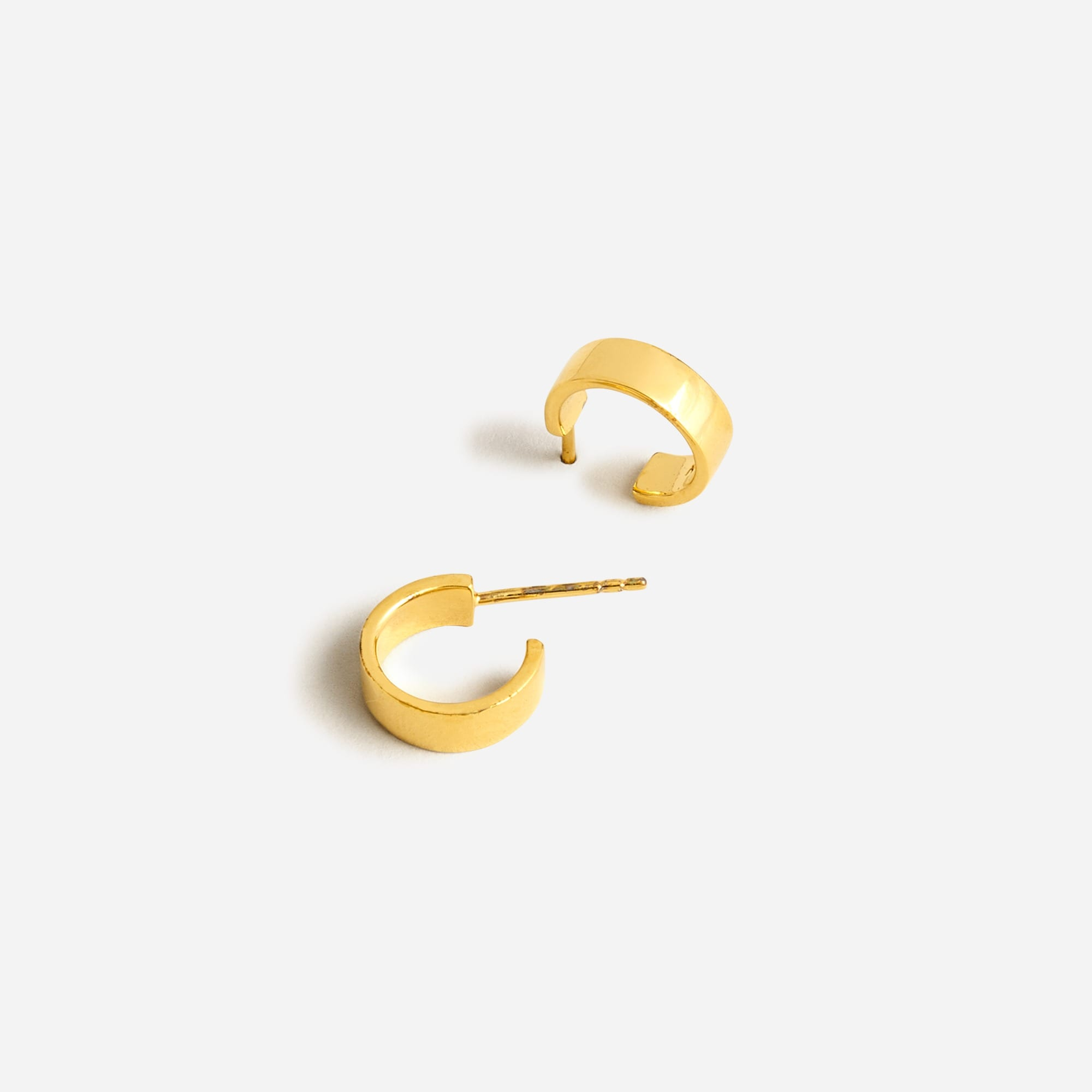 womens Demi-fine 14k gold-plated mini-hoop earrings