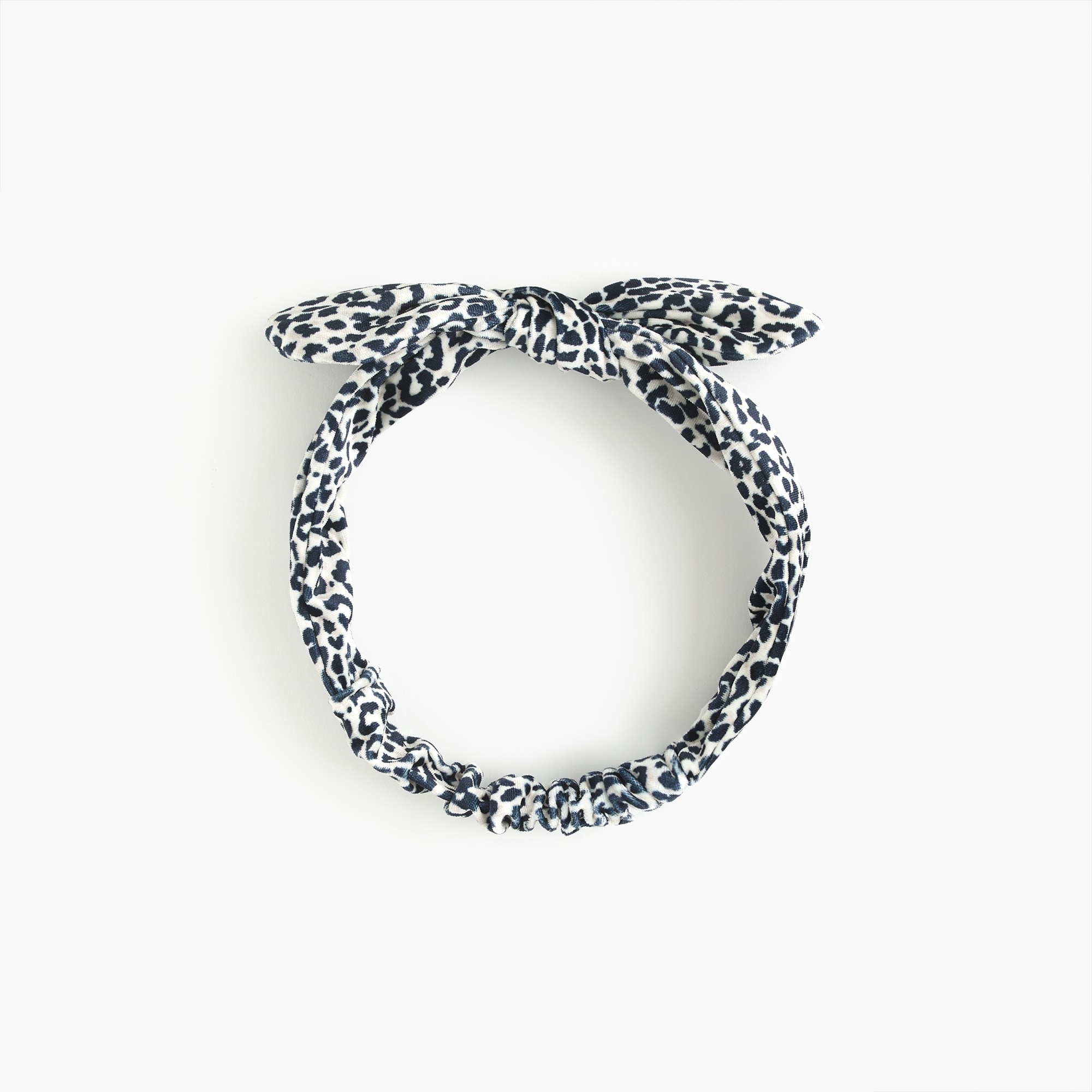 Twisted Bow Velvet Headband In Leopard by J.Crew