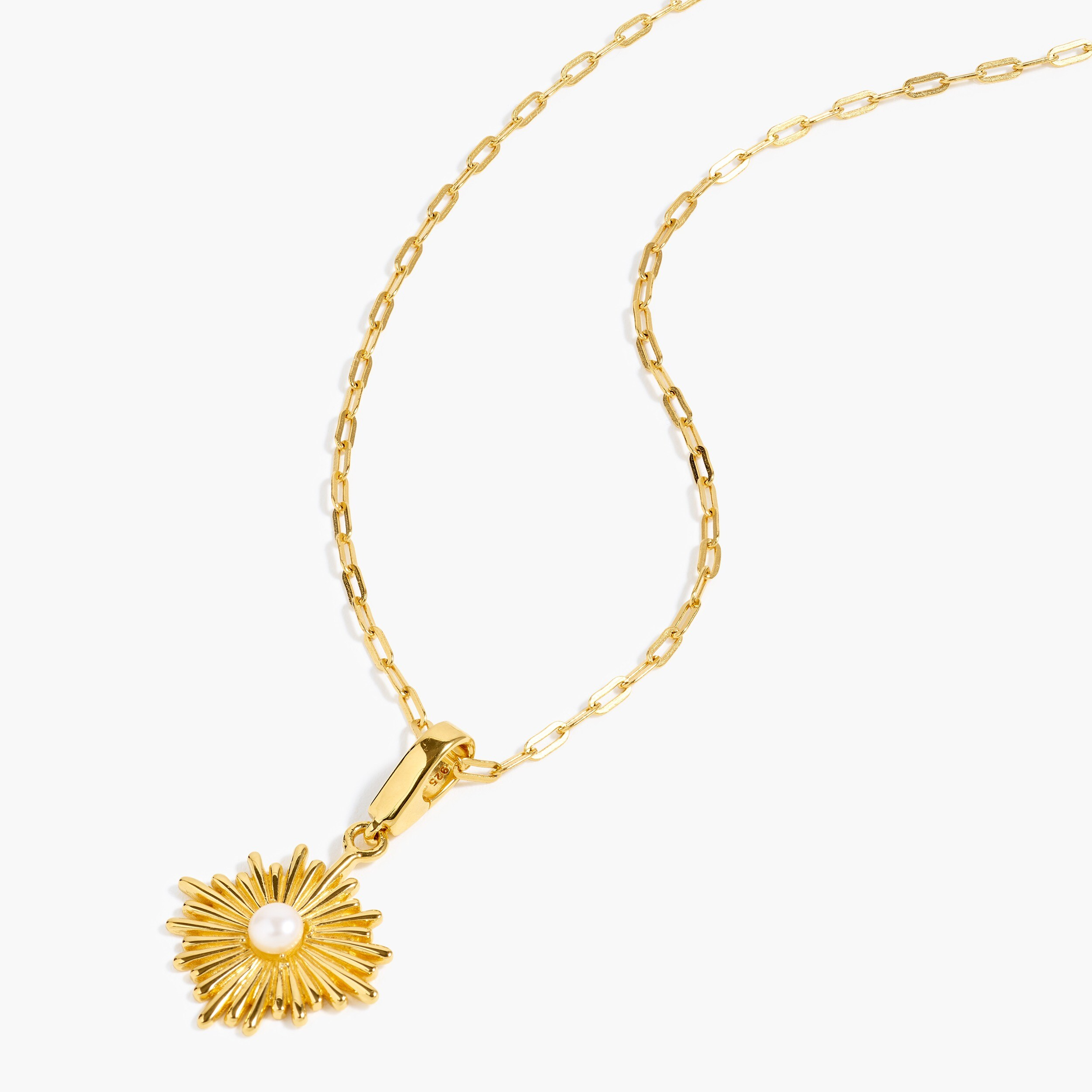 womens Demi-fine 14k gold-plated sunburst charm