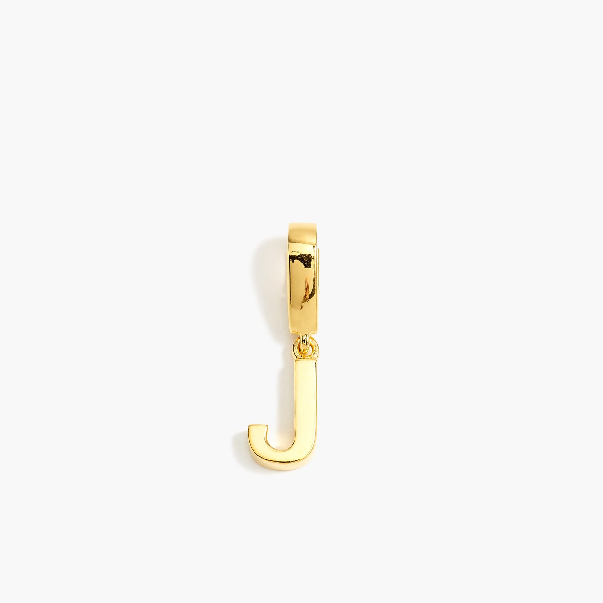 womens Demi-fine 14k gold-plated letter charm