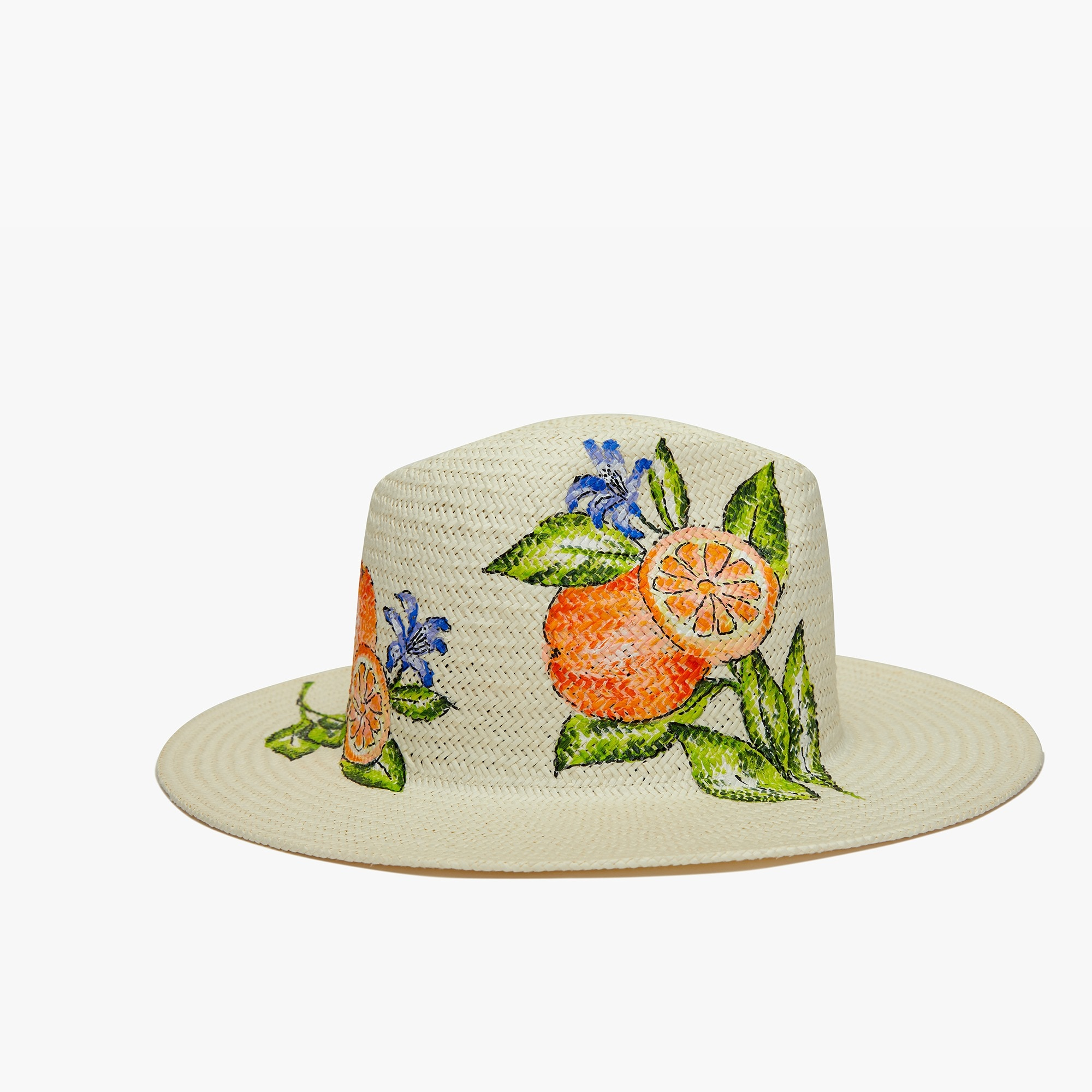 womens Onia Rosa orange Panama hat