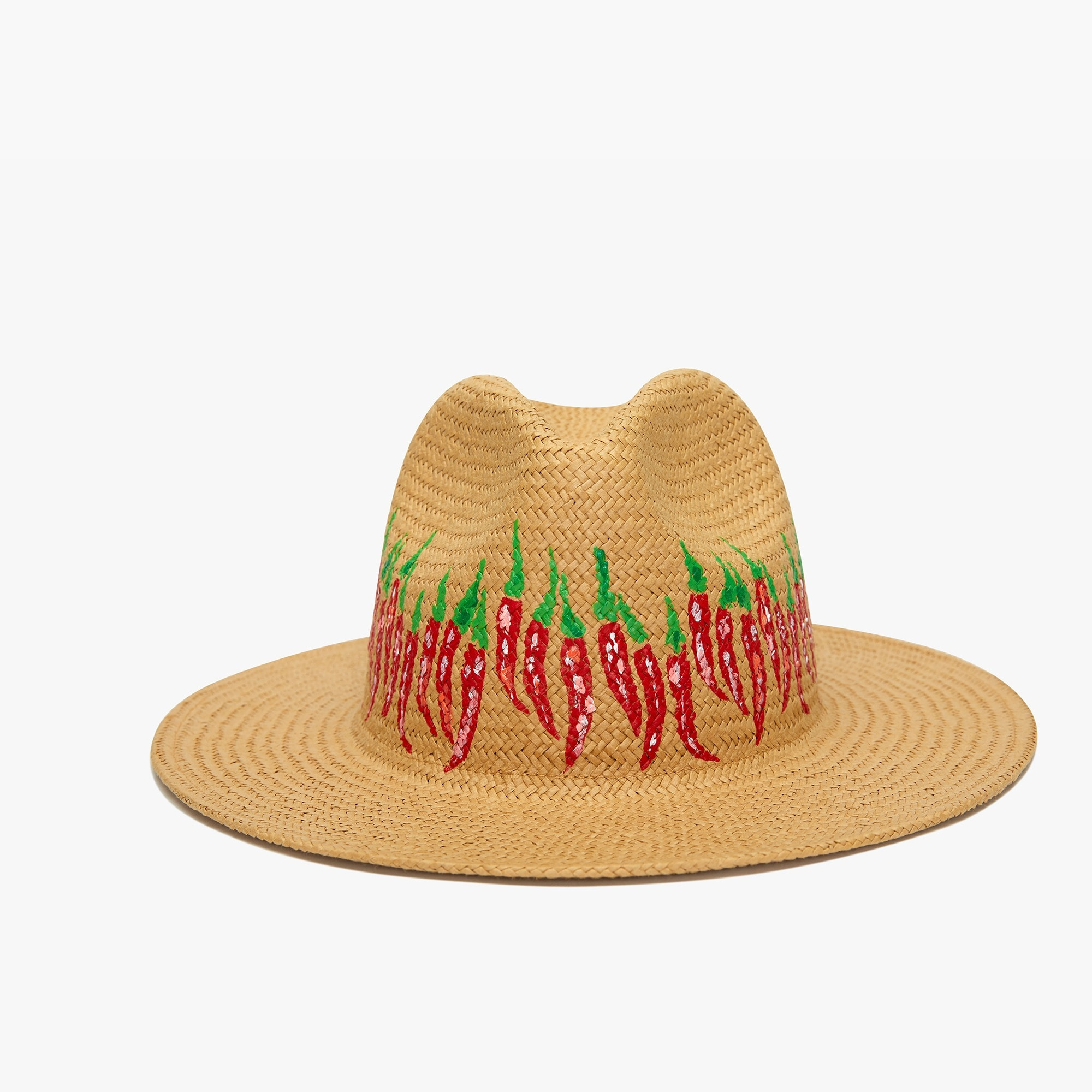 womens Onia Rosa chili Panama hat