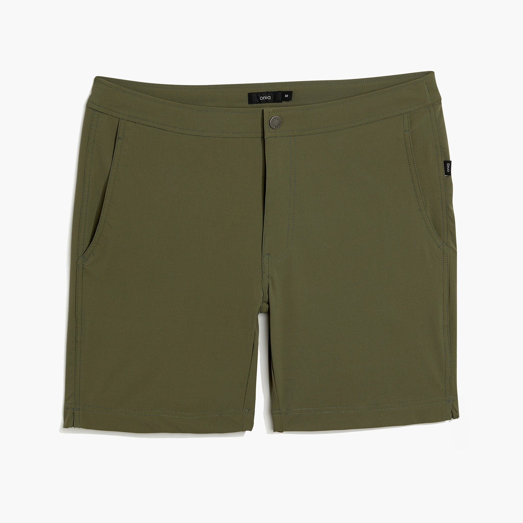 "Onia Calder 7.5"" swim trunks in sage men j.crew in good company c"