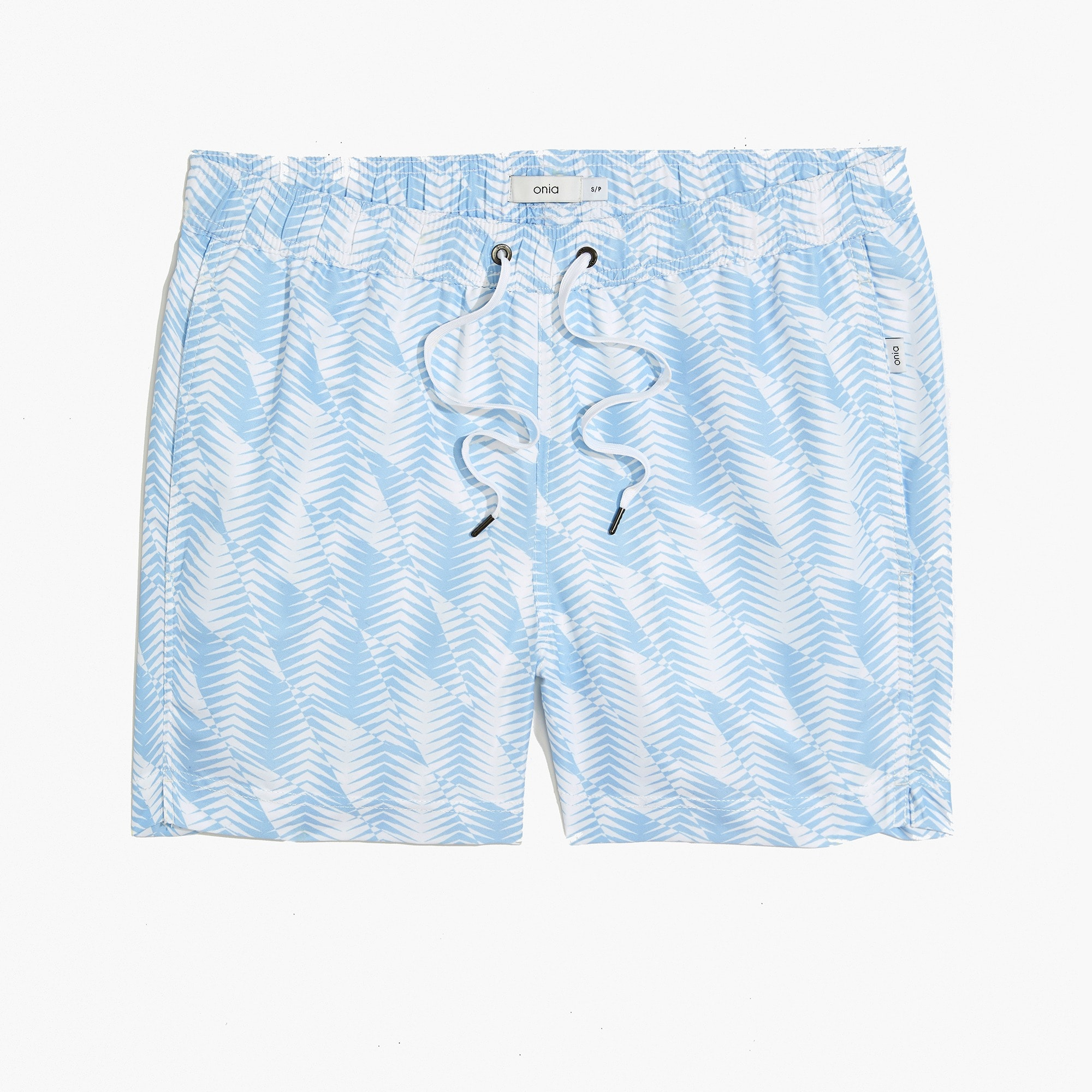 "Onia Charles 5"" swim trunks in white men j.crew in good company c"